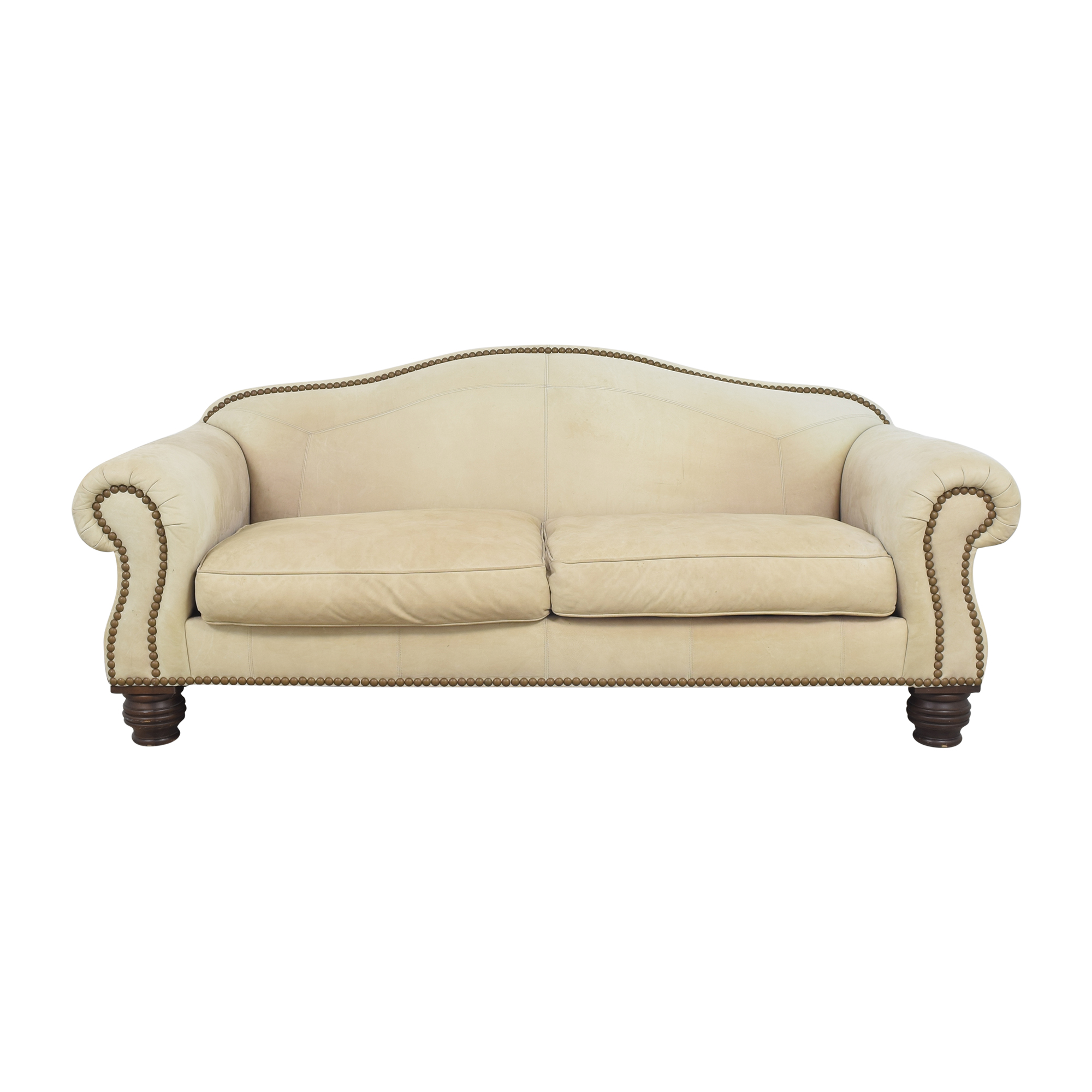 Lillian August Nailhead Camelback Sofa Lillian August