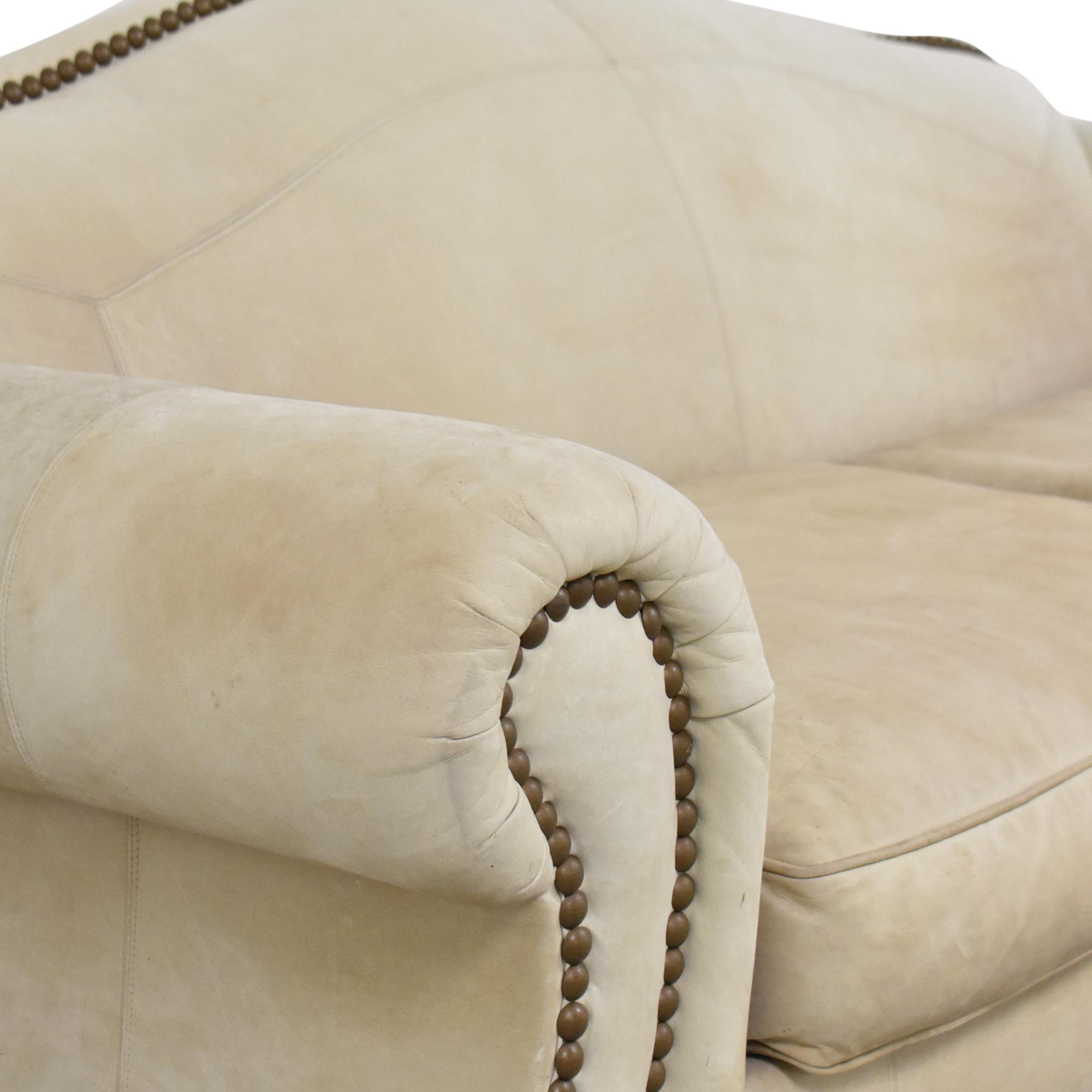 Lillian August Nailhead Camelback Sofa sale