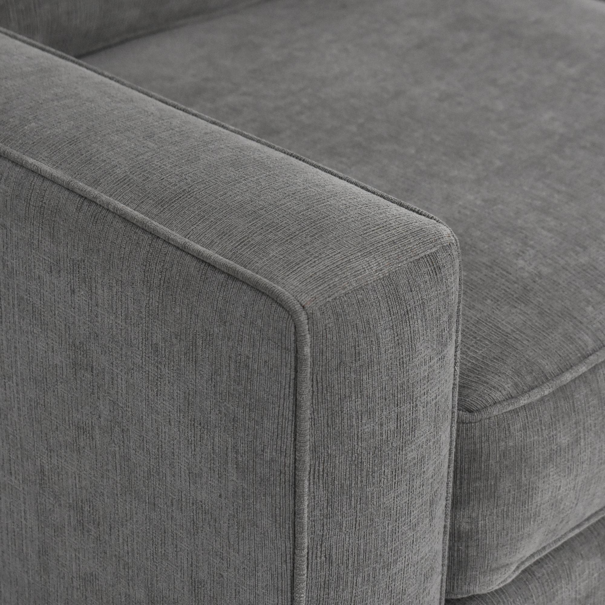 Macy's Macy's Radley Three Piece Chaise Sectional Sofa dimensions
