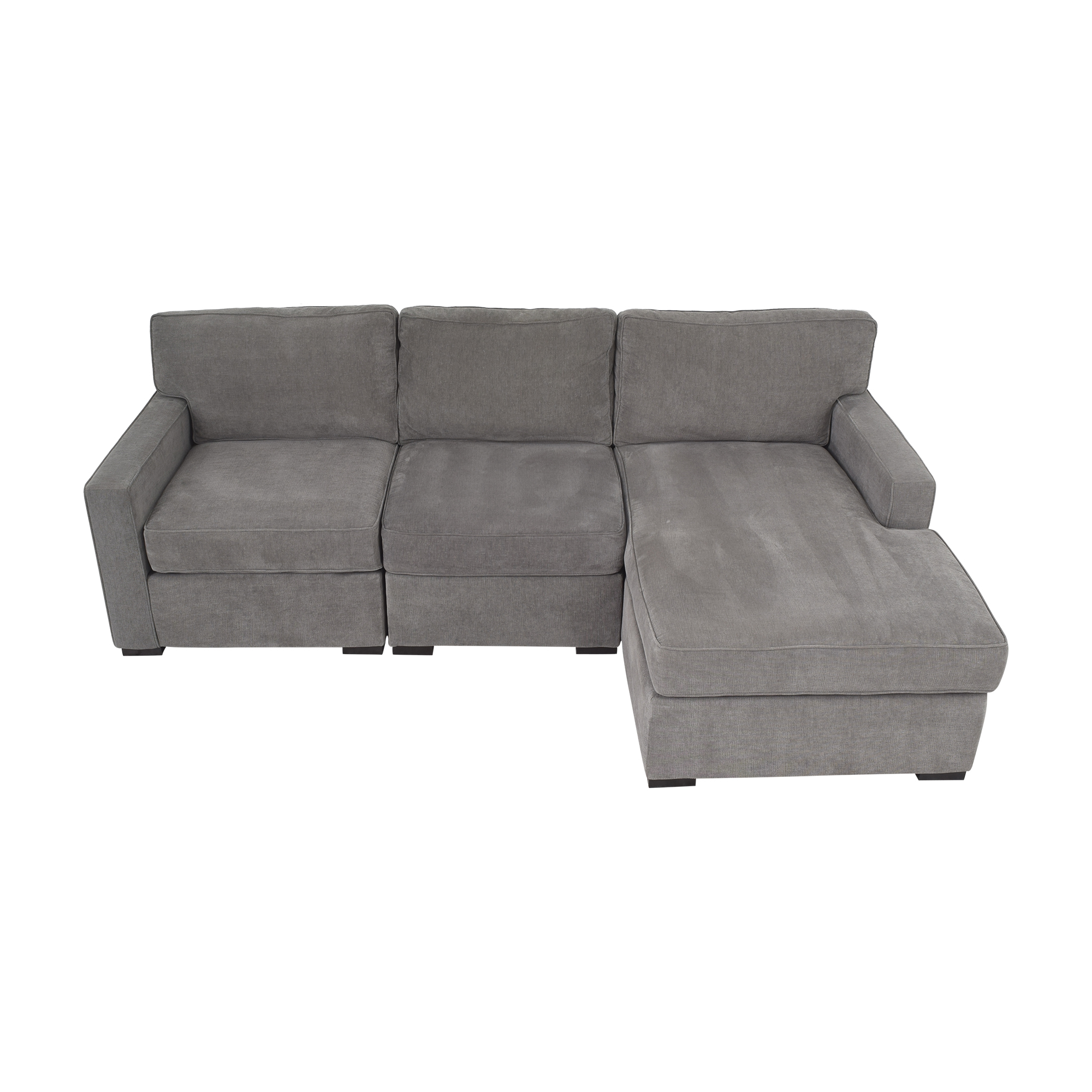 shop Macy's Radley Three Piece Chaise Sectional Sofa Macy's Sectionals
