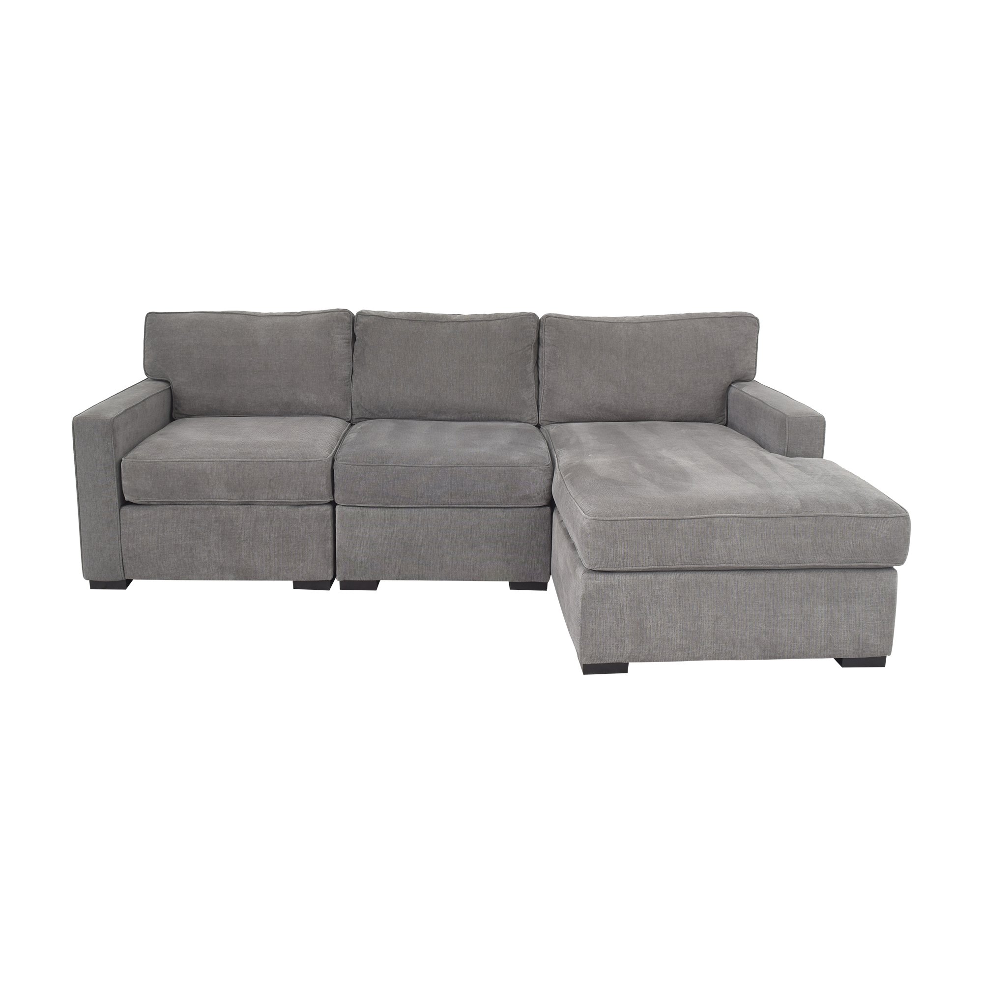 Macy's Macy's Radley Three Piece Chaise Sectional Sofa nj