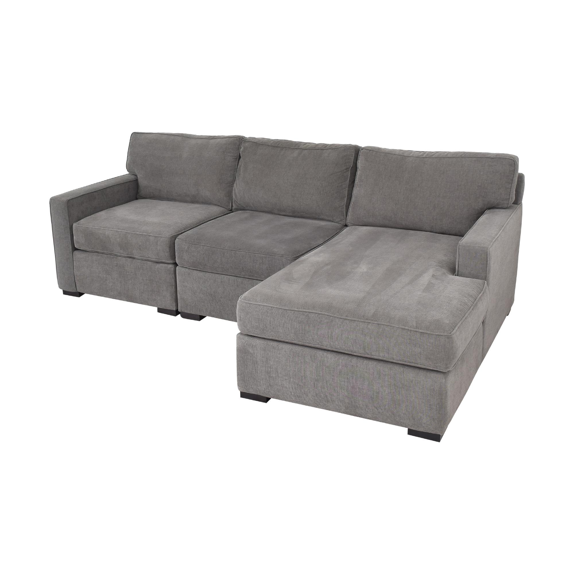 Macy's Macy's Radley Three Piece Chaise Sectional Sofa on sale