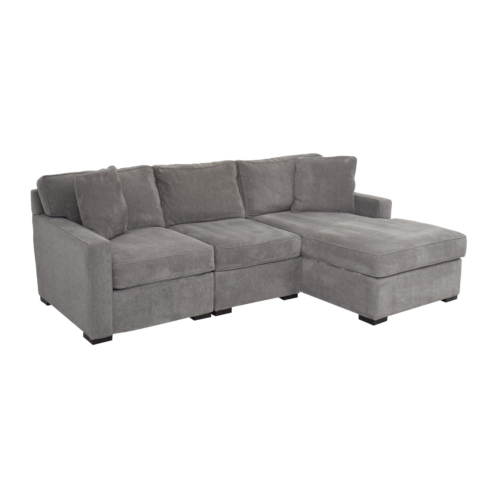 Macy's Macy's Radley Three Piece Chaise Sectional Sofa discount