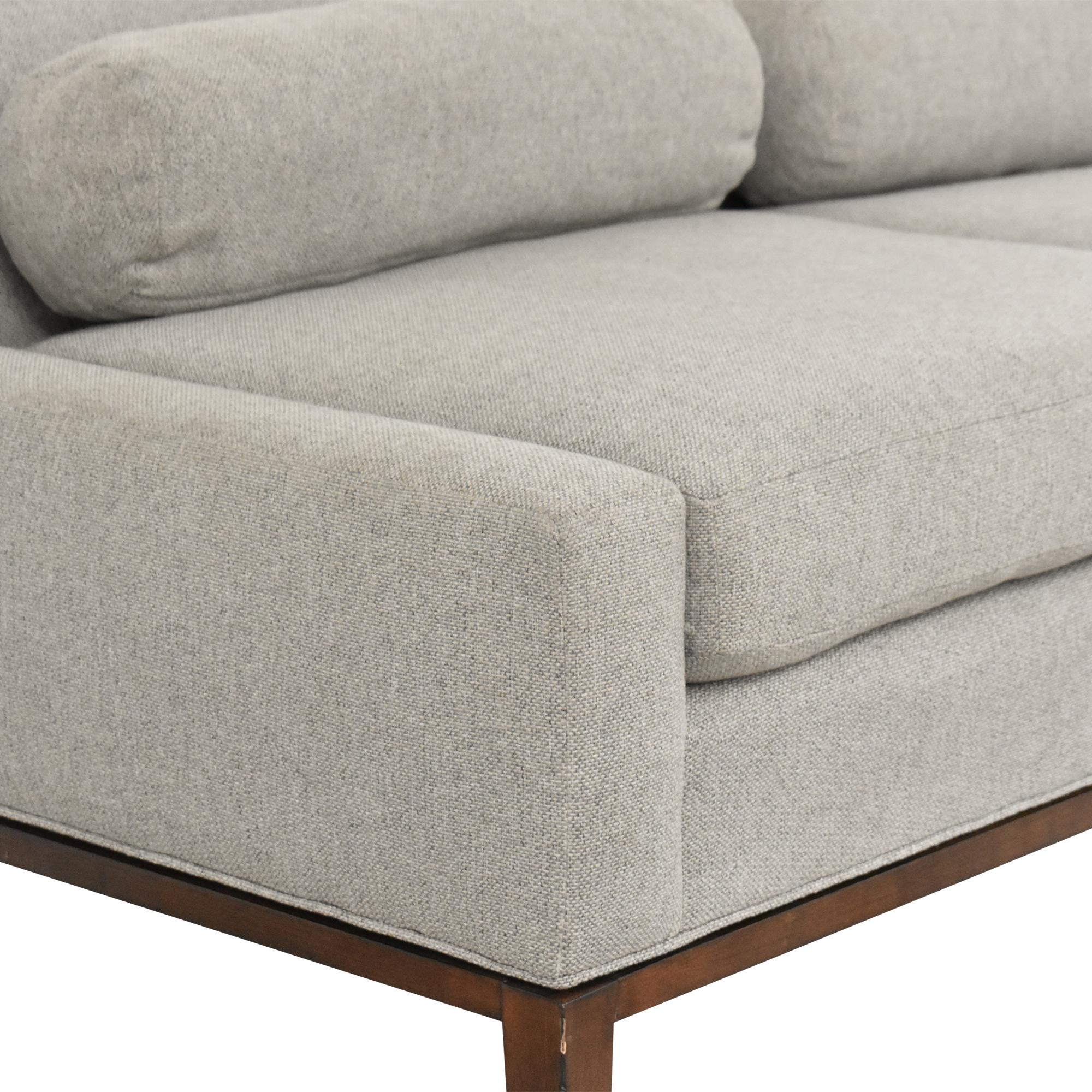 buy Vanguard Furniture Jacen Footboard Sofa Vanguard Furniture Classic Sofas