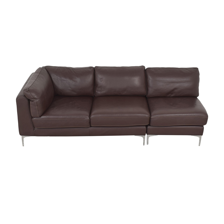 shop Design Within Reach Albert Sectional Sofa Design Within Reach