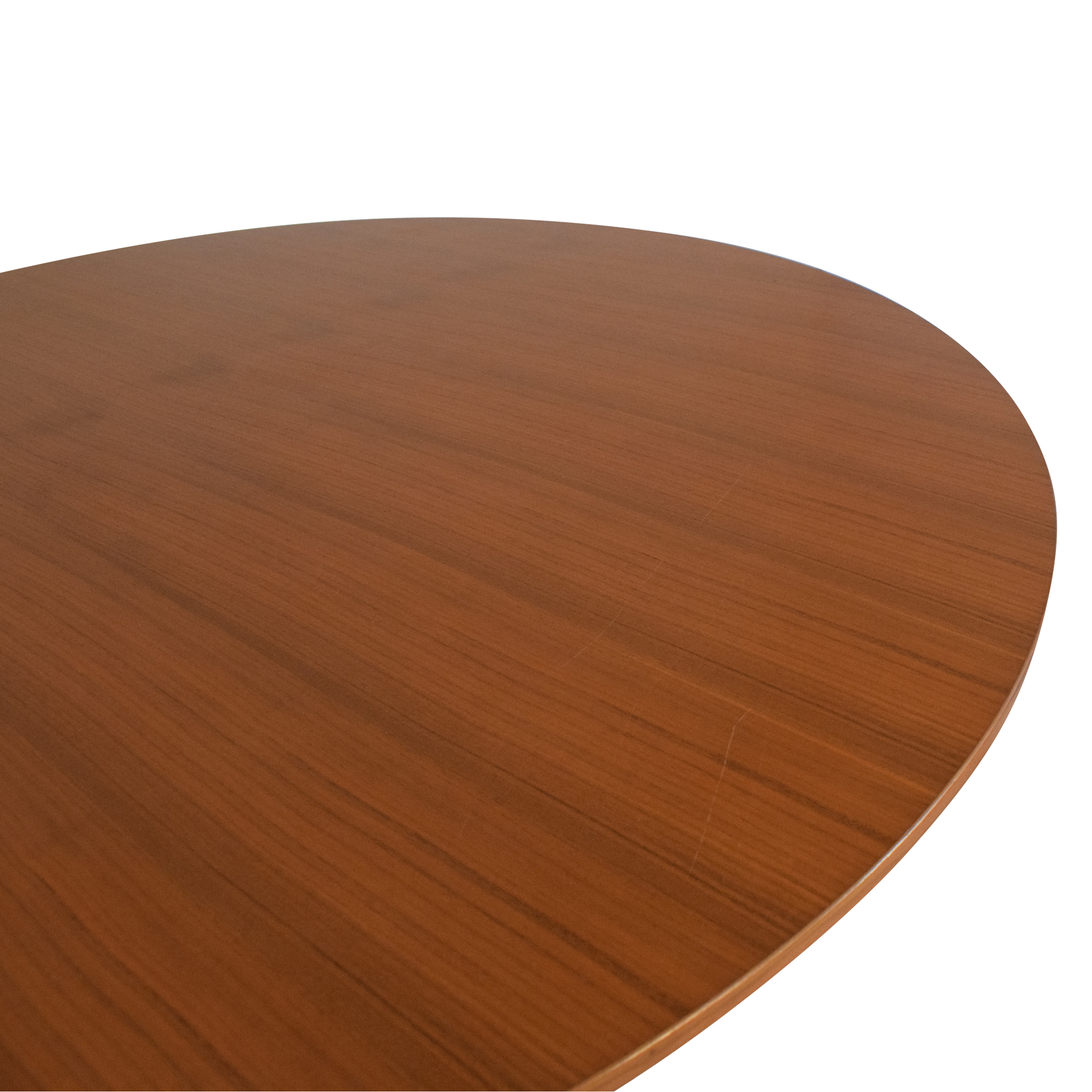 Round Top Pedestal Dining Table used