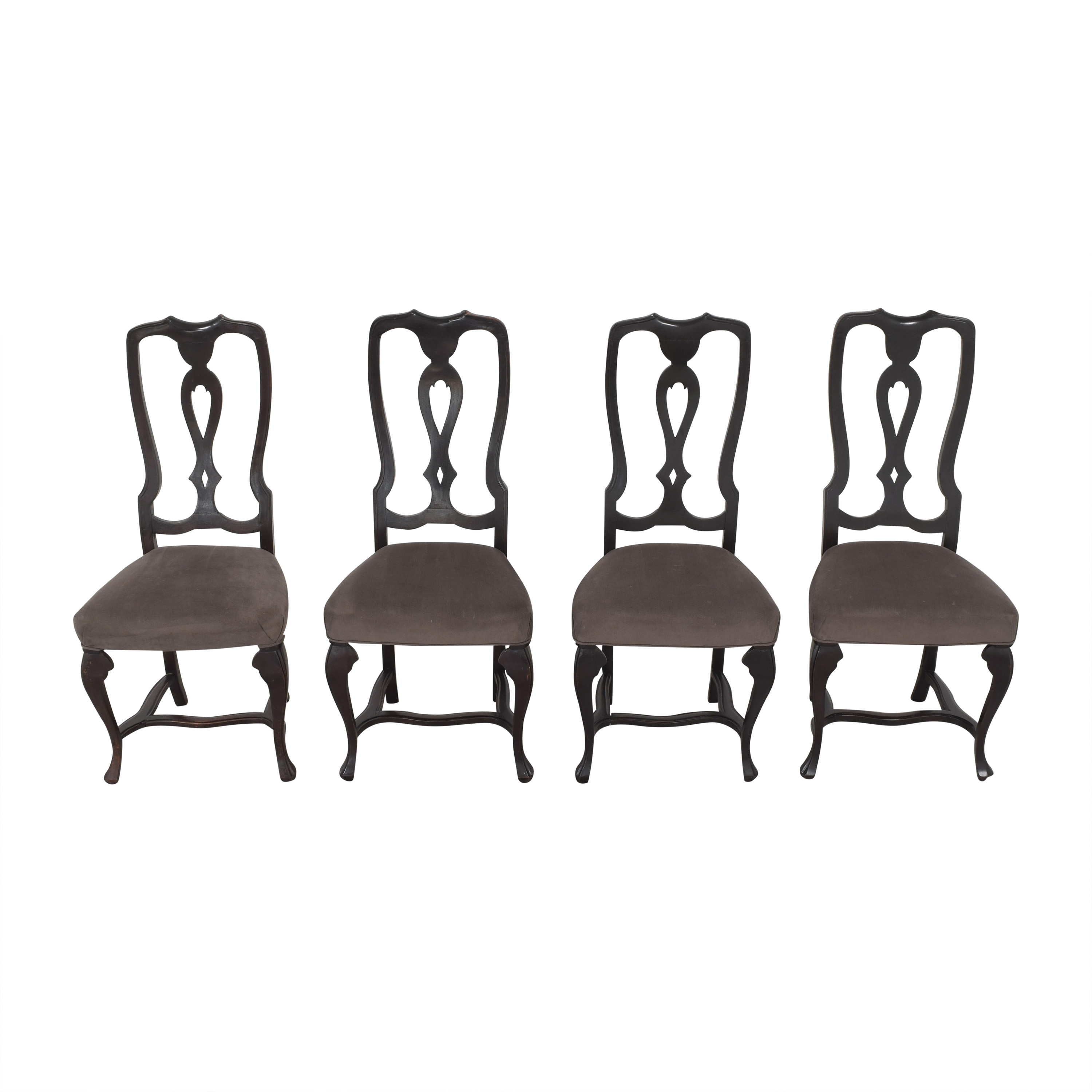 Antique Upholstered Dining Chairs pa