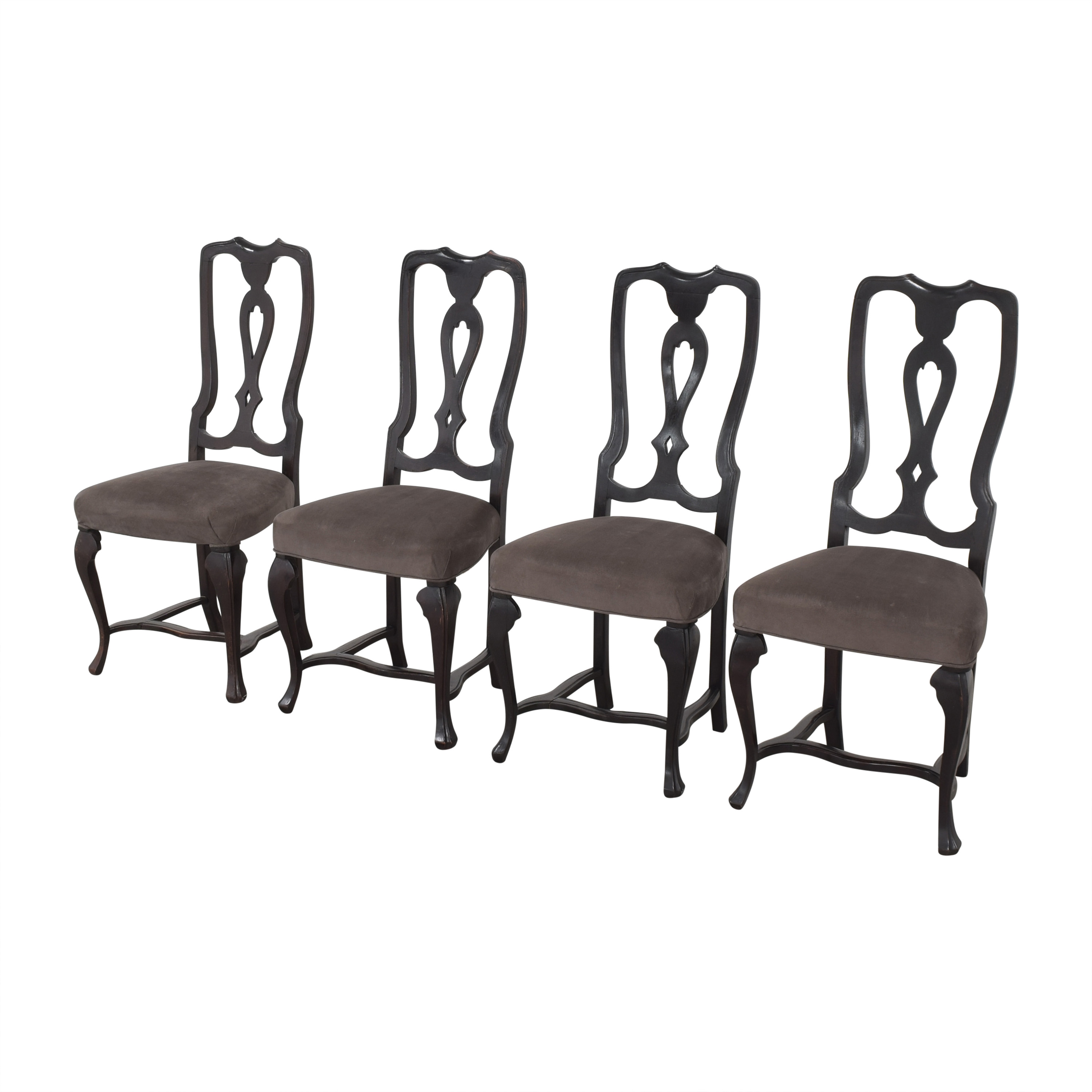 Antique Upholstered Dining Chairs / Chairs