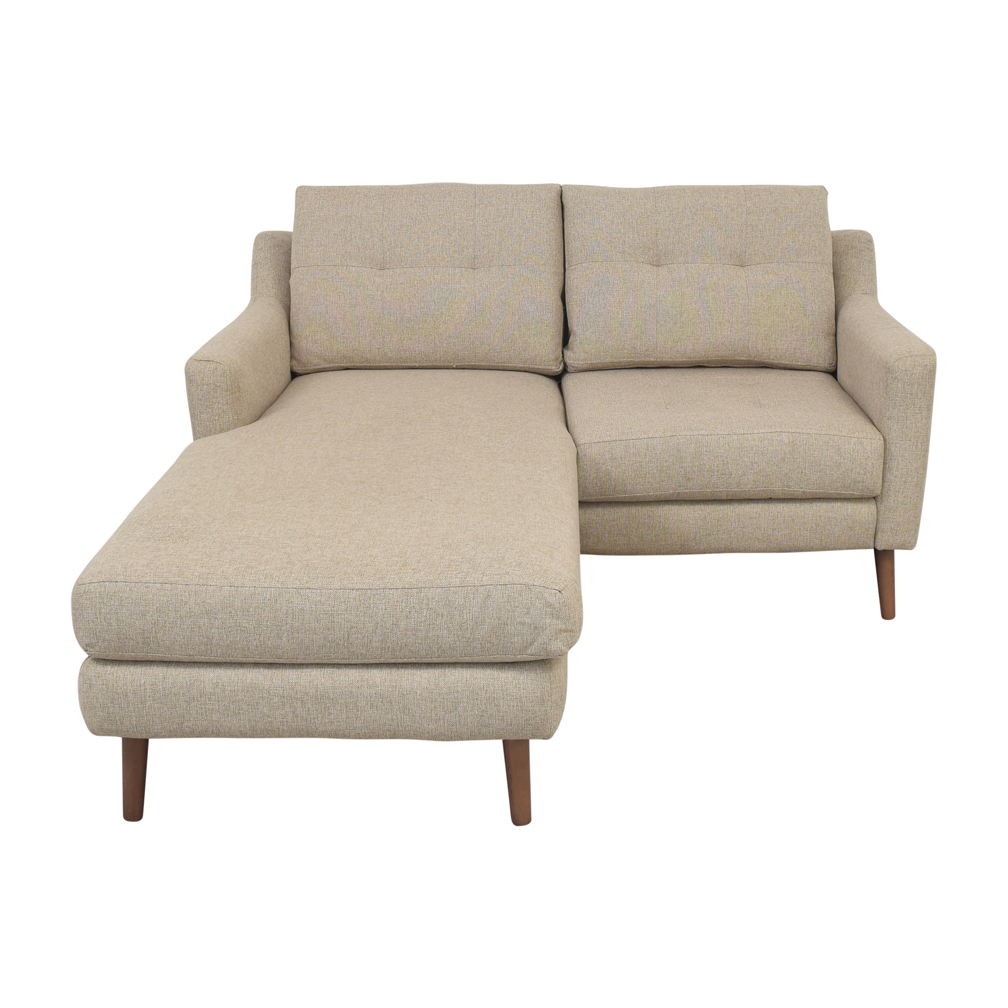 Burrow Burrown Slope Nomad Loveseat with Chaise pa