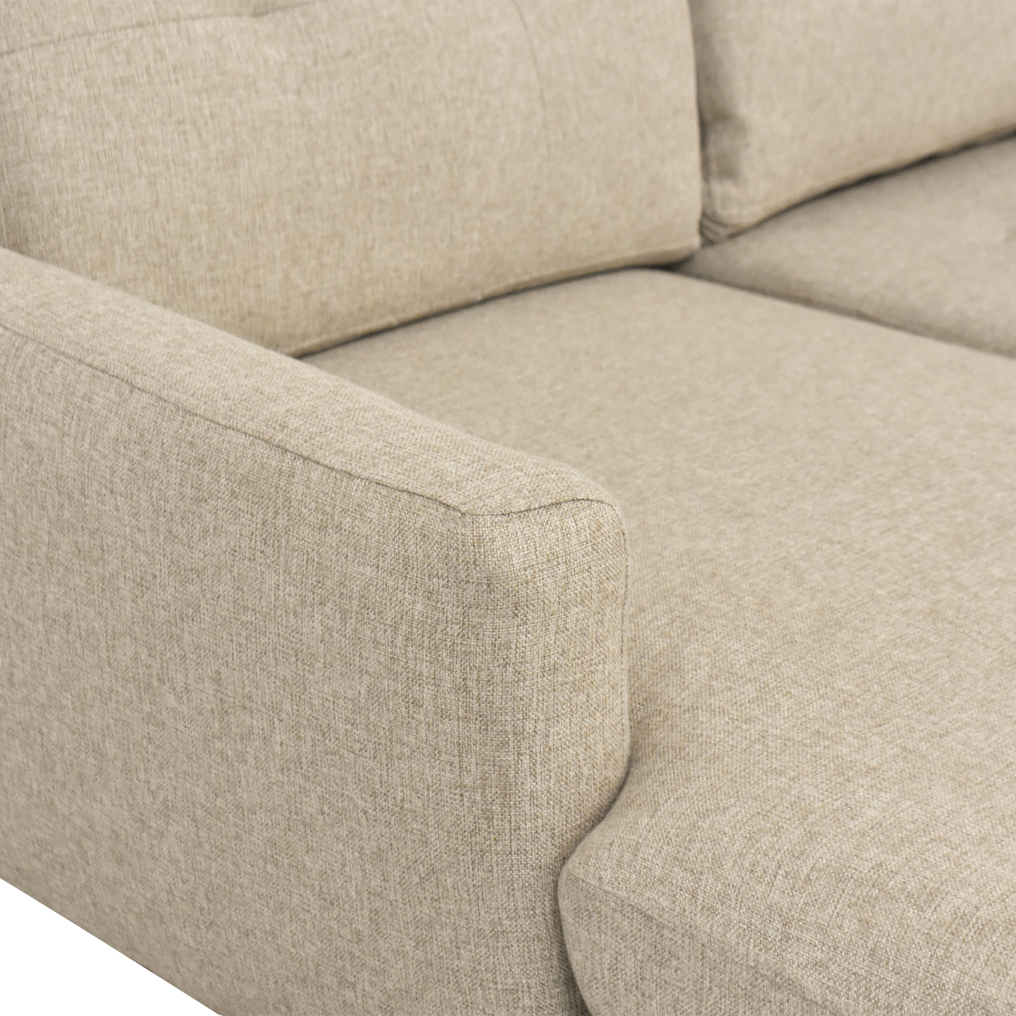 Burrow Burrown Slope Nomad Loveseat with Chaise for sale