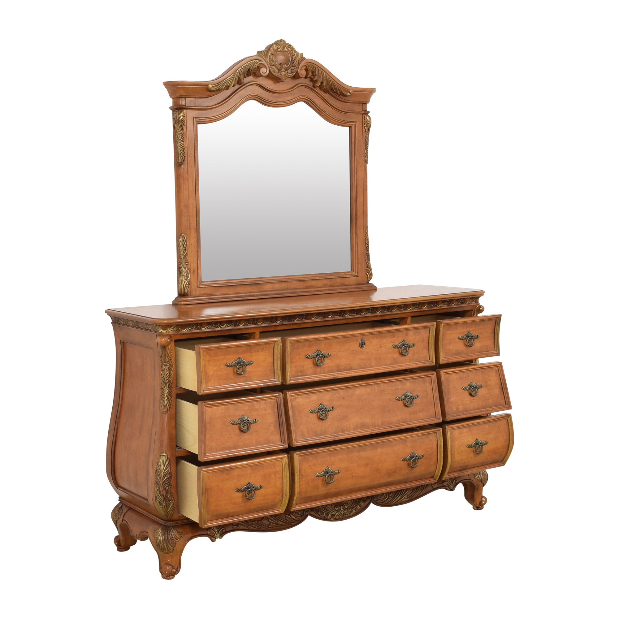 Triple Bombe Dresser with Mirror coupon