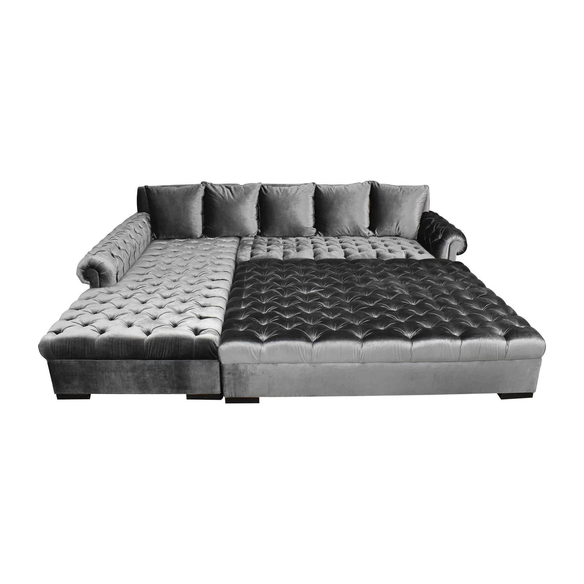 buy Haute House Smith Sectional Sofa with Ottoman Haute House