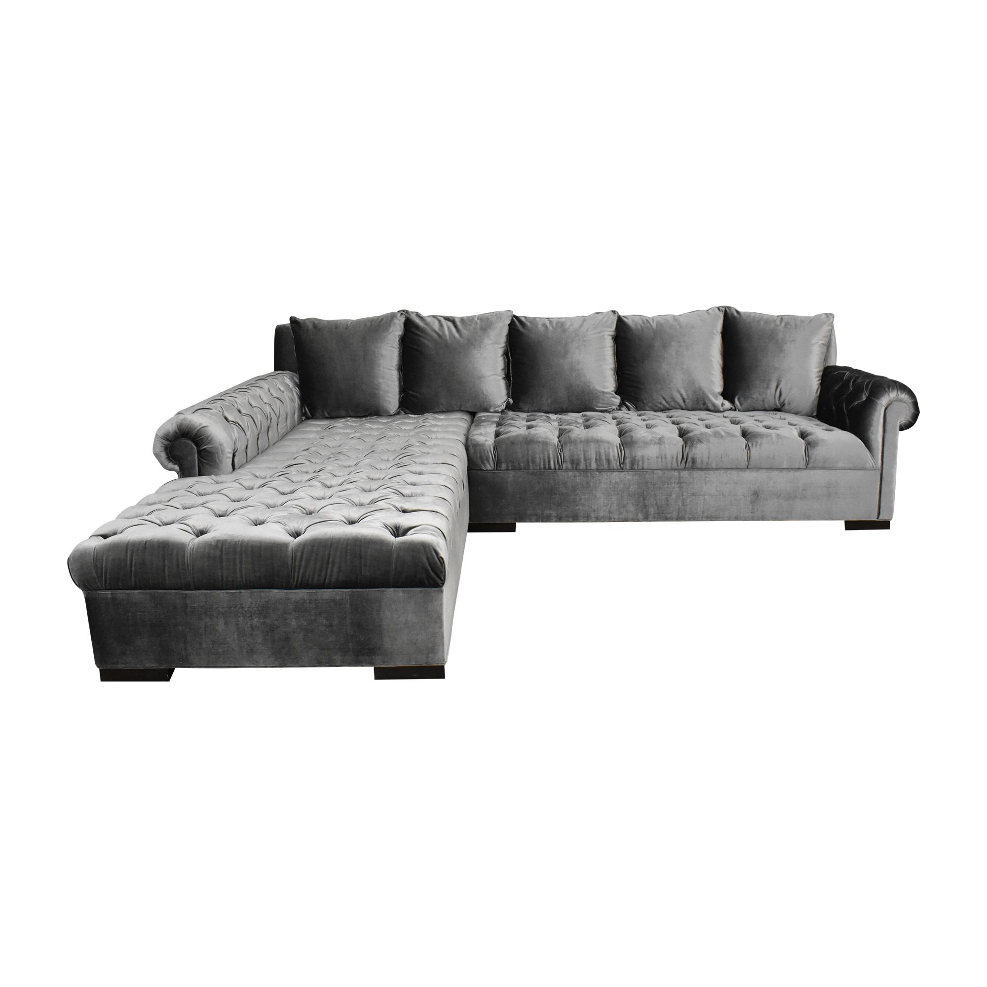 Haute House Haute House Smith Sectional Sofa with Ottoman nyc