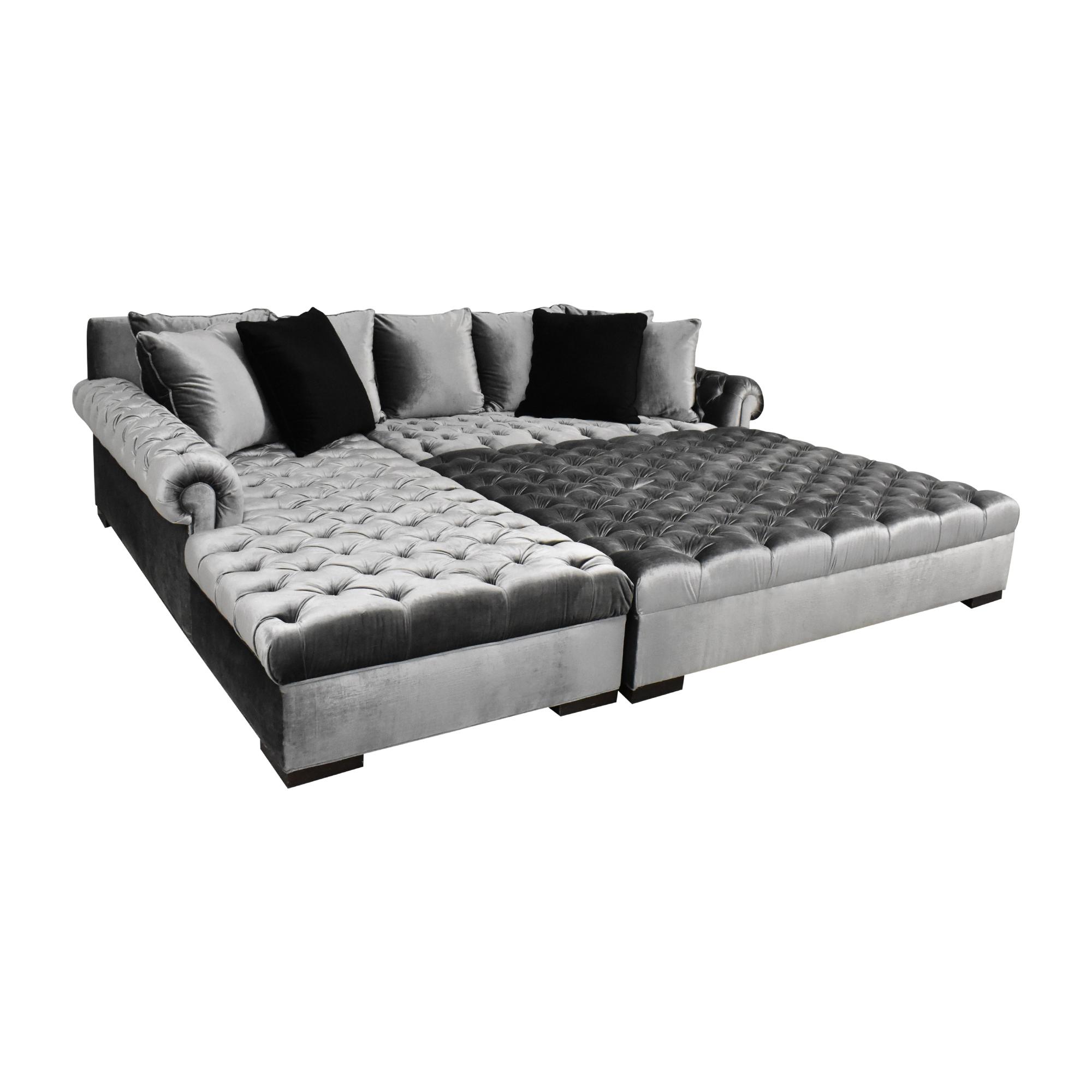 Haute House Haute House Smith Sectional Sofa with Ottoman on sale