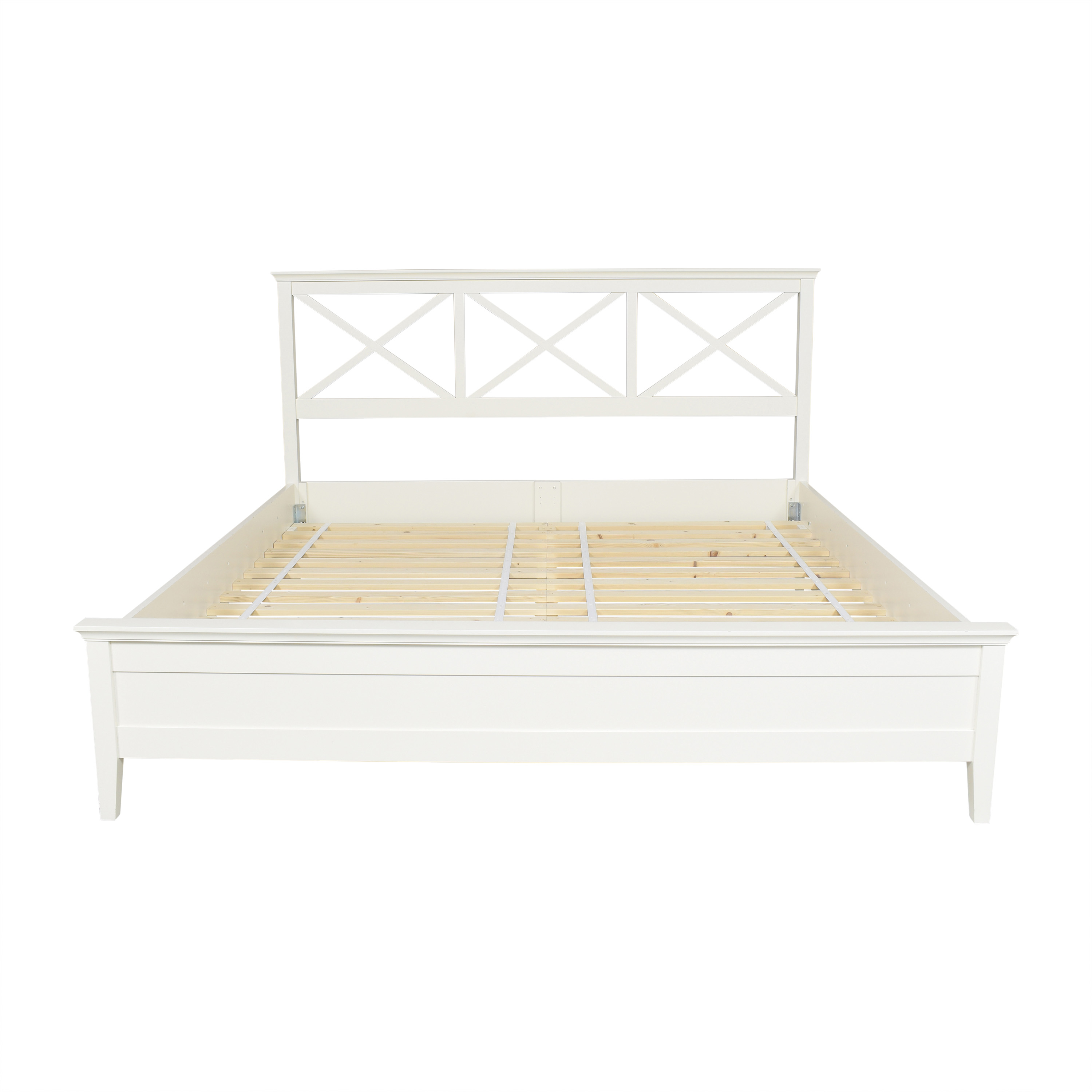 buy Pottery Barn Clara Lattice Platform King Bed Pottery Barn Bed Frames