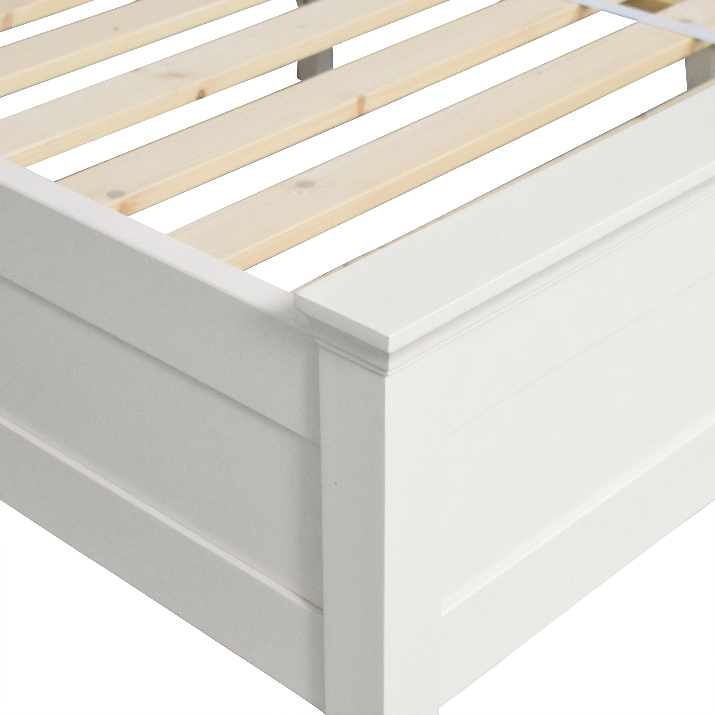 Pottery Barn Pottery Barn Clara Lattice Platform King Bed Bed Frames