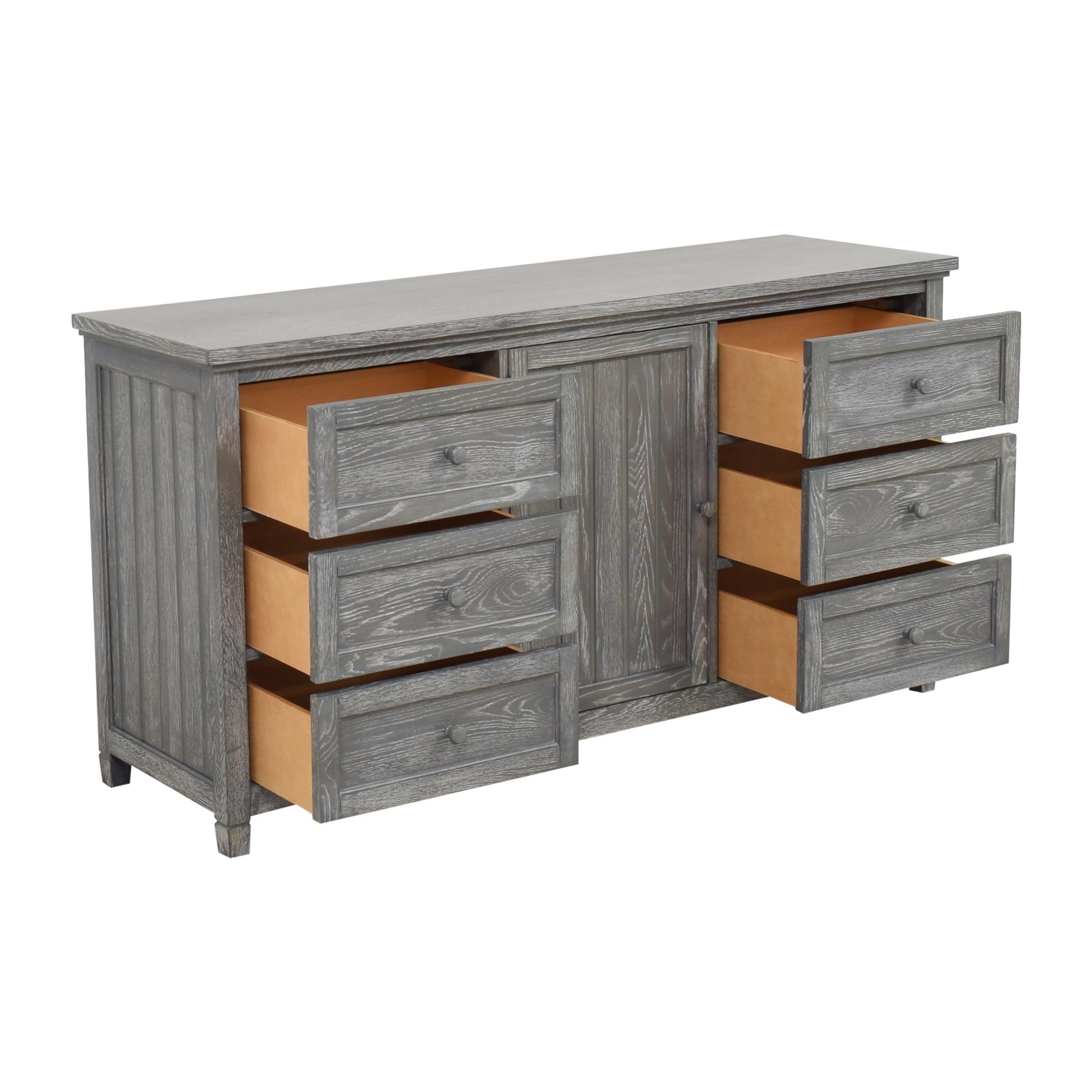 Pottery Barn Teen Pottery Barn Teen Beadboard Six Drawer Wide Dresser for sale