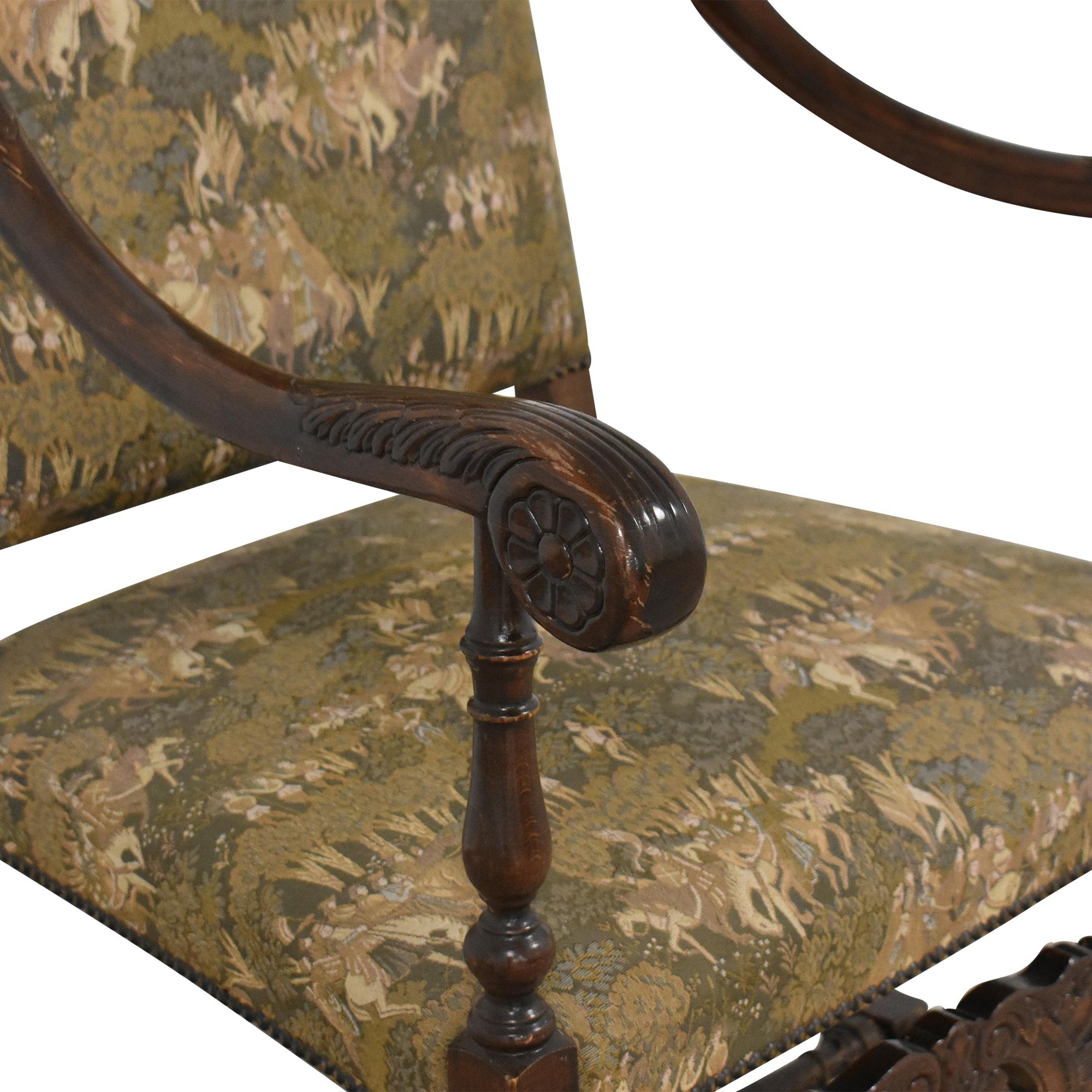 Vintage Carved Arm Chair nj