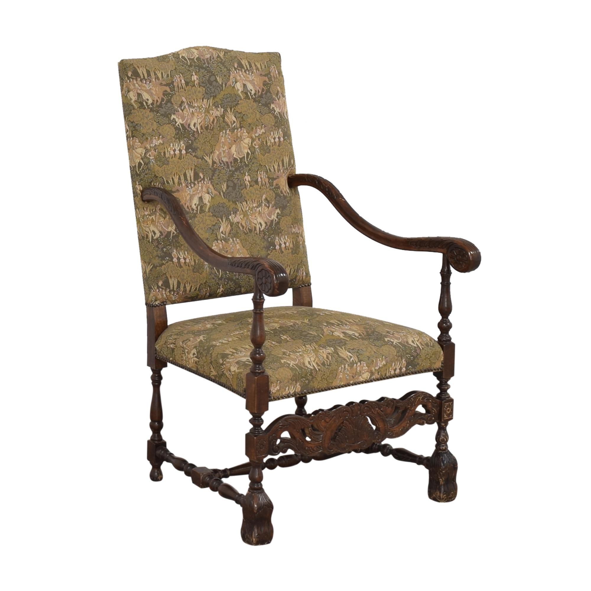 Vintage Carved Arm Chair ct