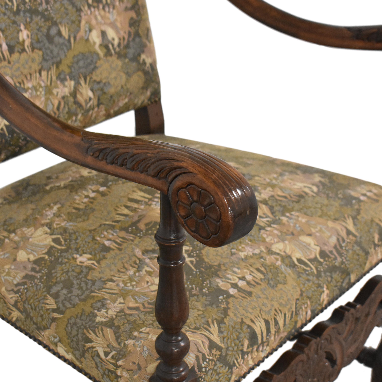 Vintage Carved Arm Chair on sale