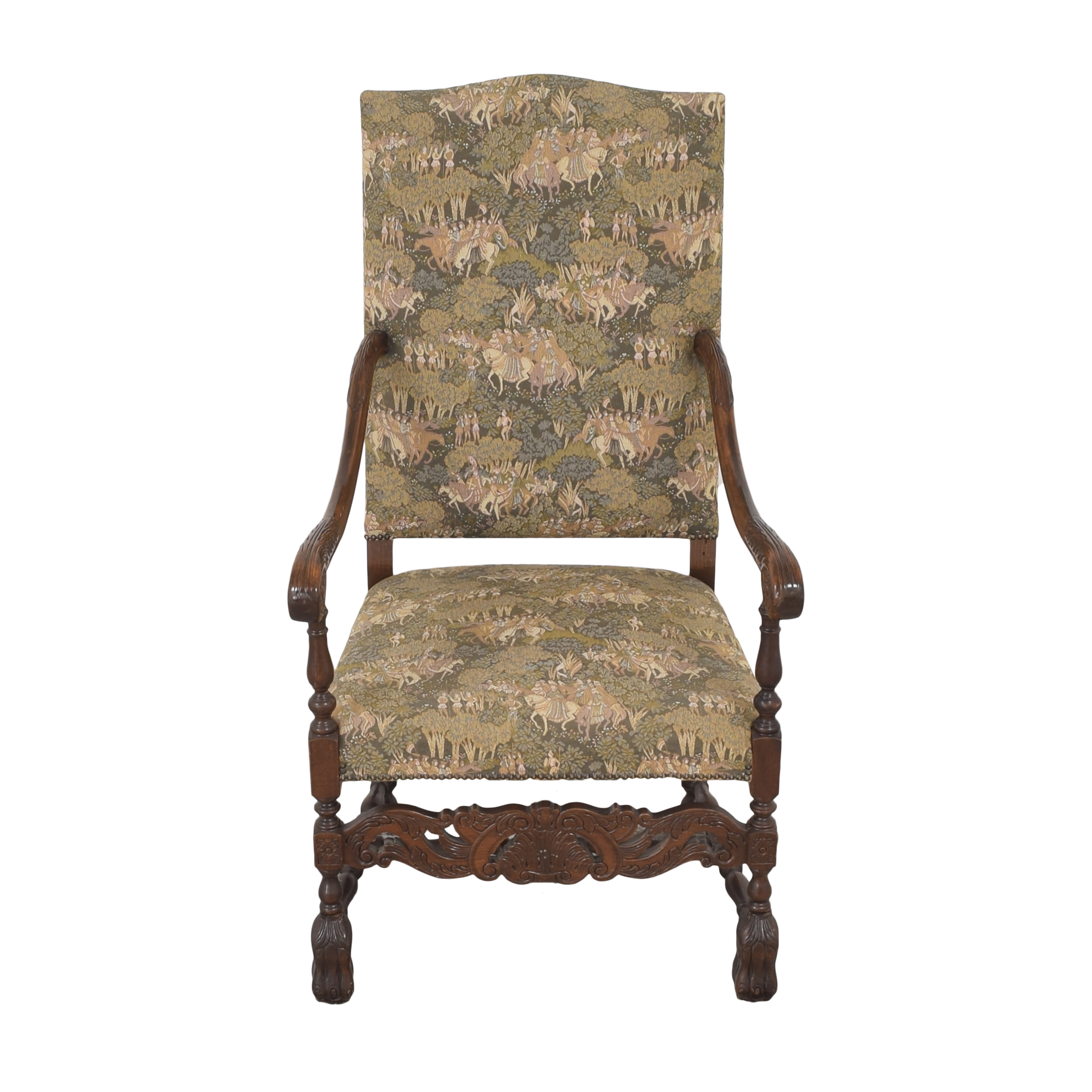 Vintage Carved Arm Chair for sale