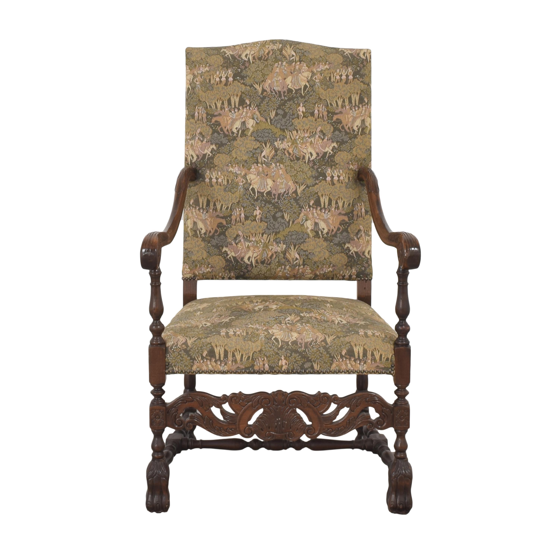 Vintage Carved Arm Chair used