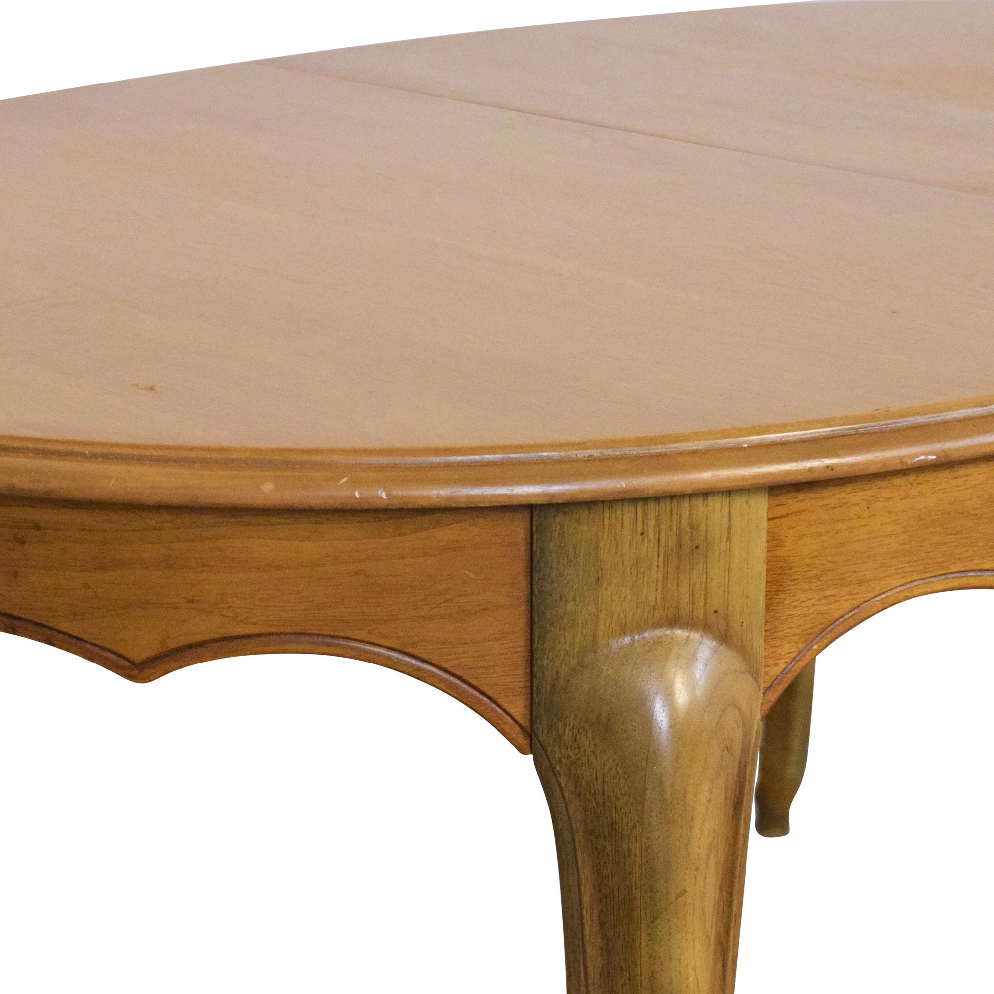 shop Drexel Chateau Laurente Extendable Dining Table Drexel Tables