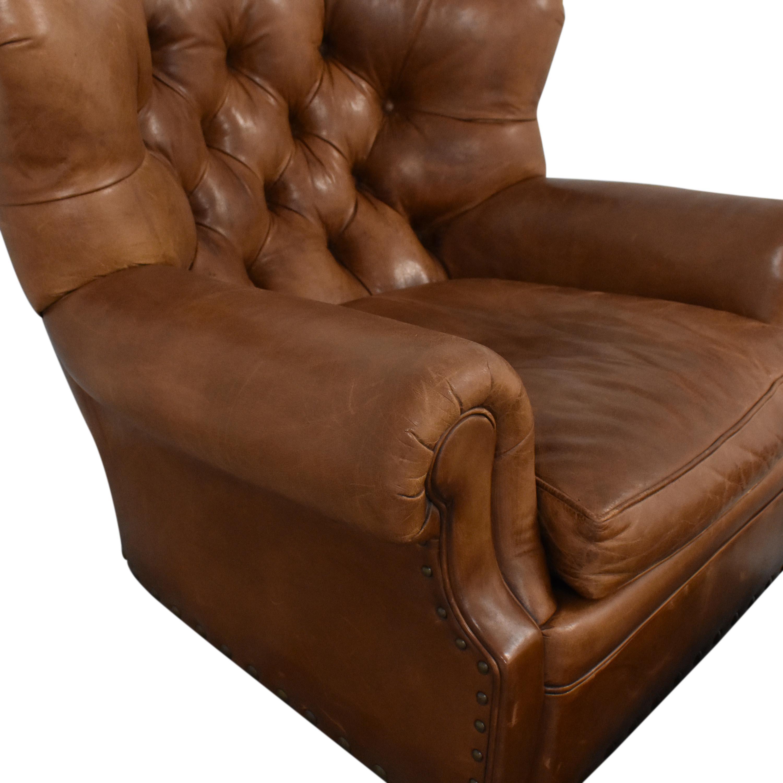 shop Ralph Lauren Writer's Chair and Ottoman Ralph Lauren Home Chairs