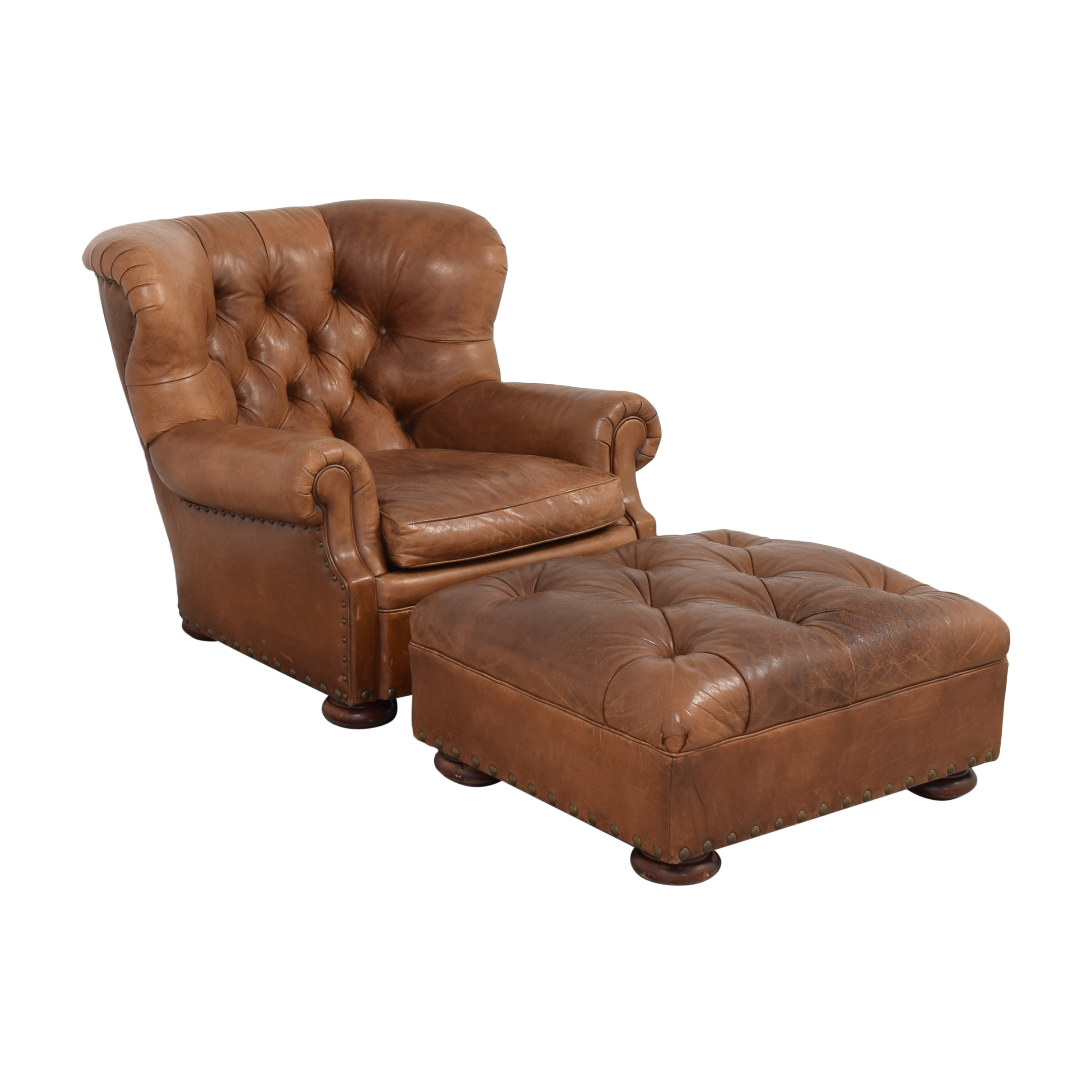 Ralph Lauren Writer's Chair and Ottoman / Accent Chairs
