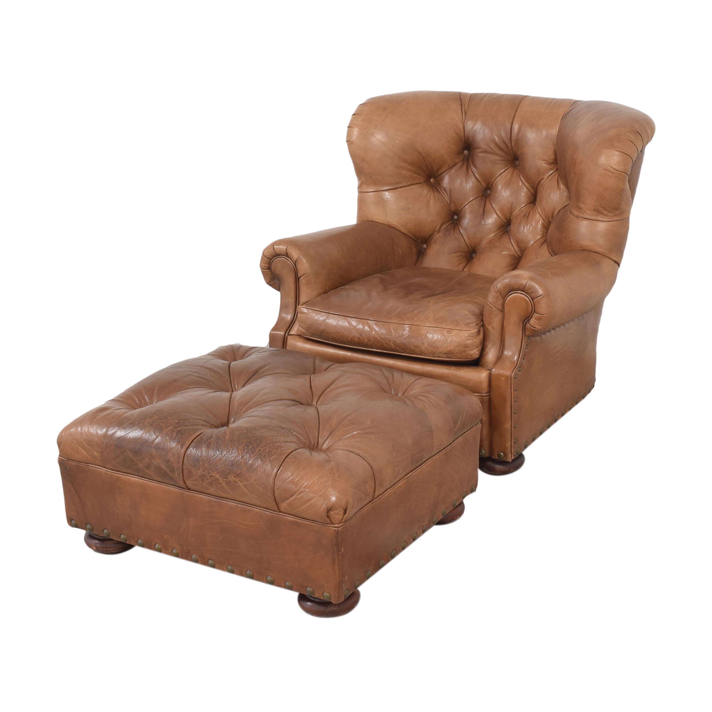 Ralph Lauren Home Ralph Lauren Writer's Chair and Ottoman second hand