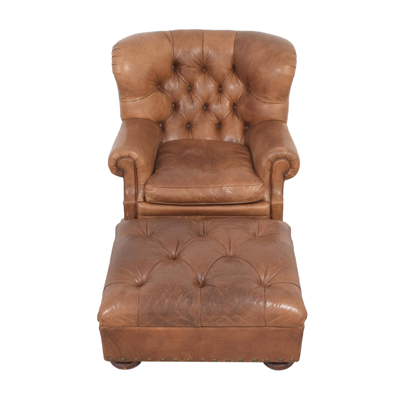 Ralph Lauren Home Ralph Lauren Writer's Chair and Ottoman used