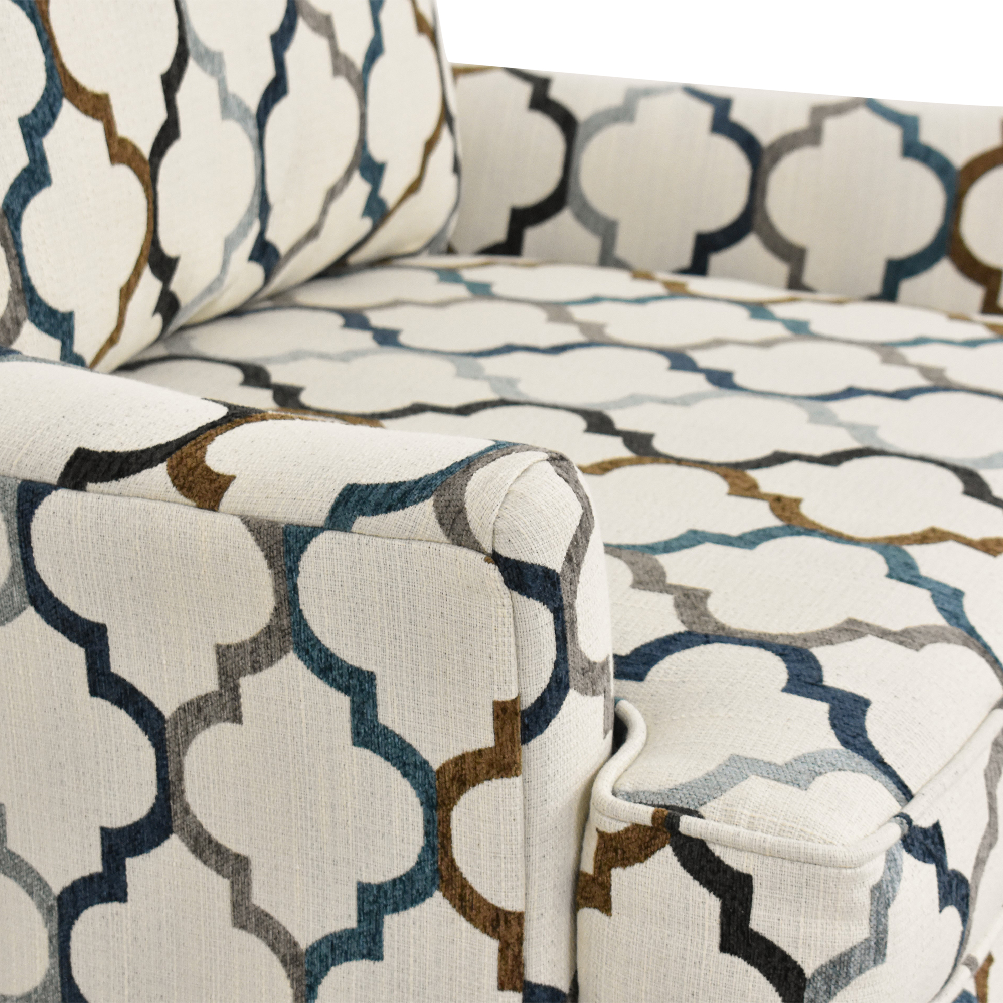buy Raymour & Flanigan Raymour & Flanigan Quatrefoil Accent Chair online