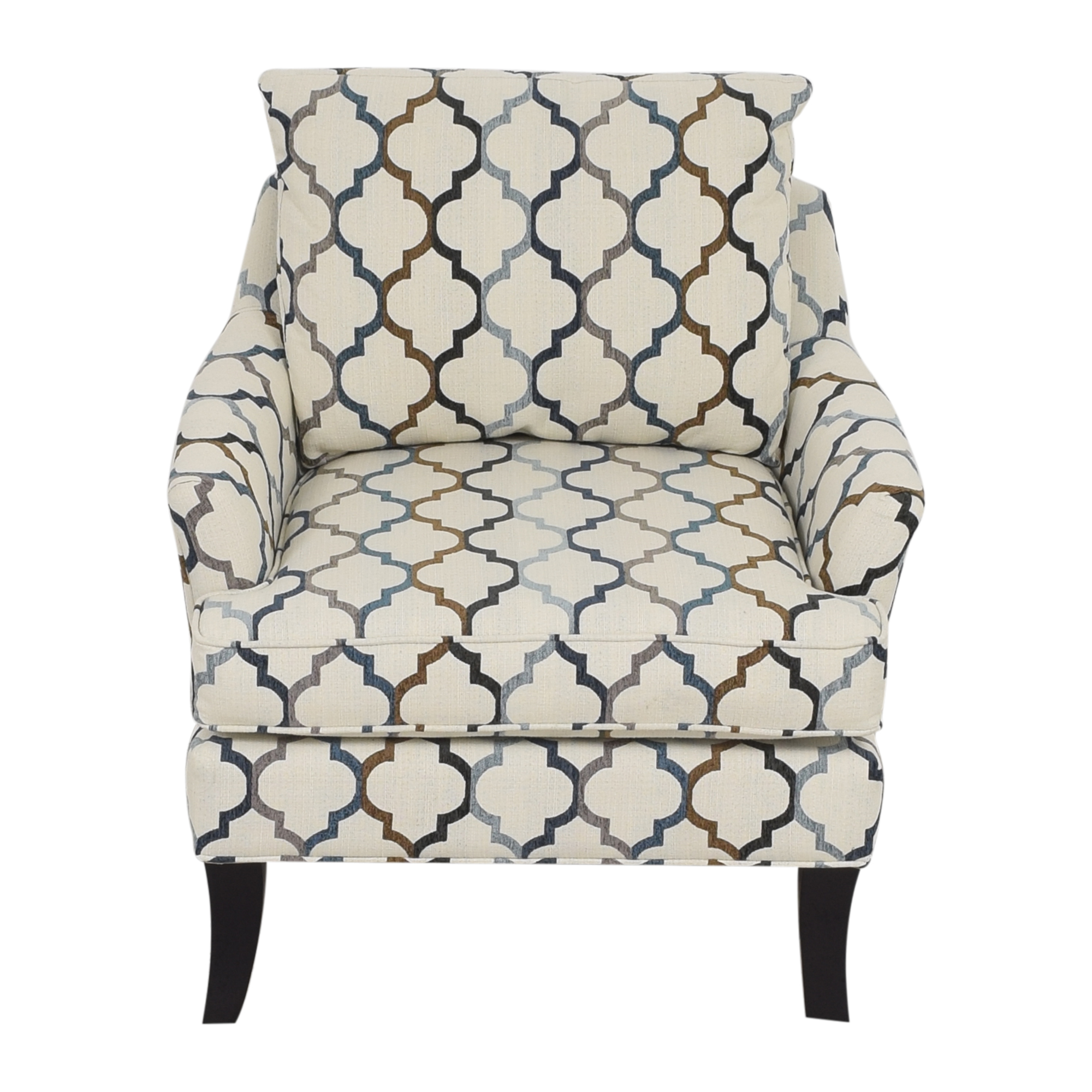 Raymour & Flanigan Raymour & Flanigan Quatrefoil Accent Chair ma