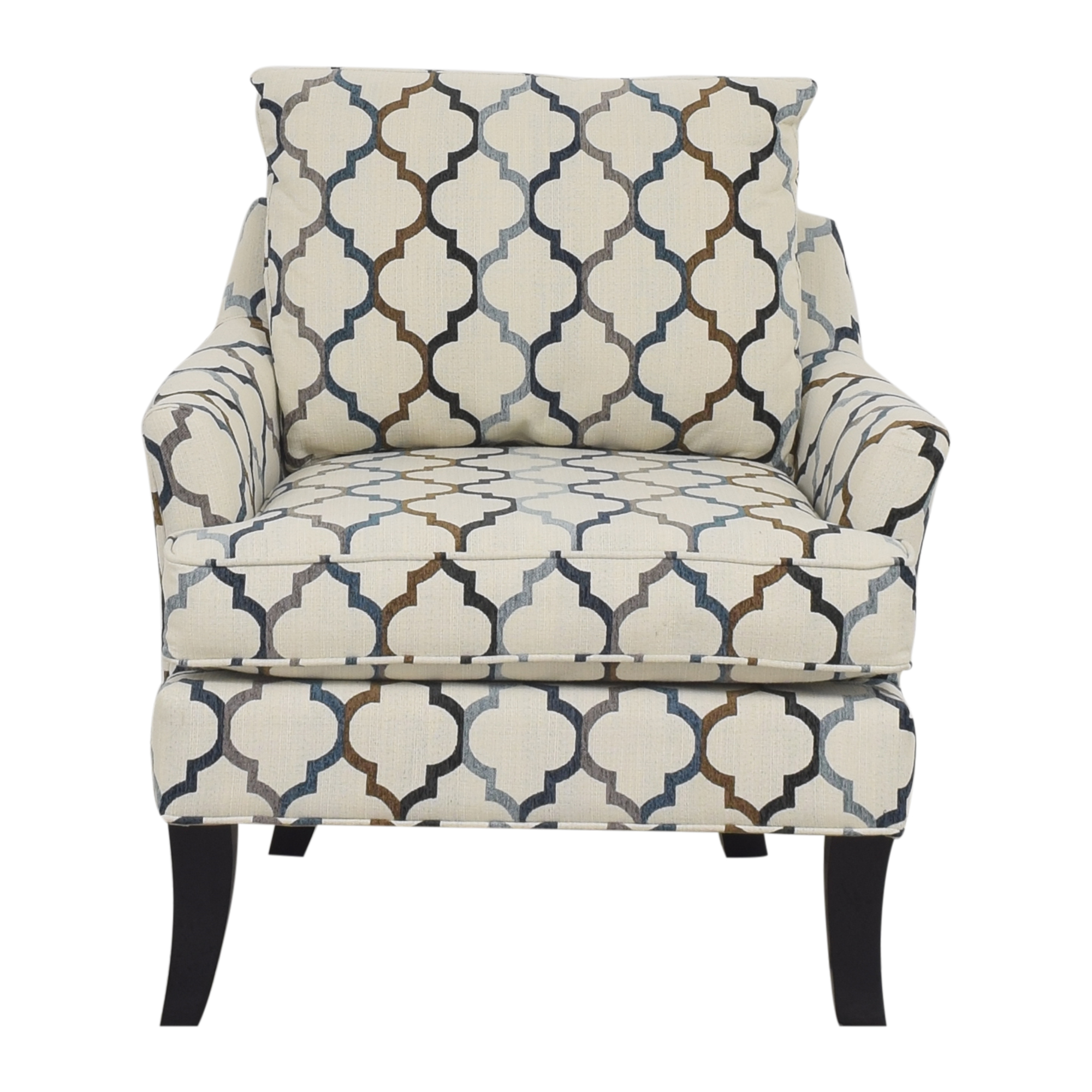 Raymour & Flanigan Raymour & Flanigan Quatrefoil Accent Chair Accent Chairs