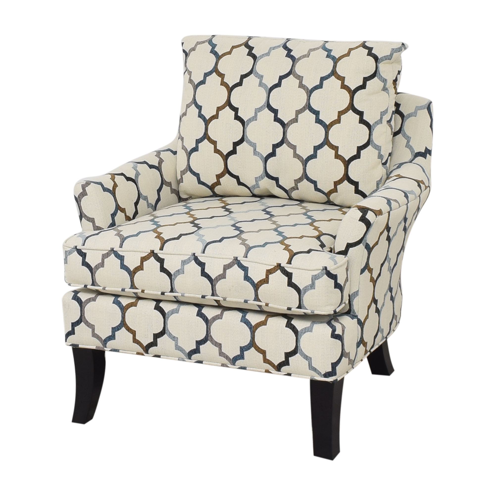 Raymour & Flanigan Raymour & Flanigan Quatrefoil Accent Chair discount