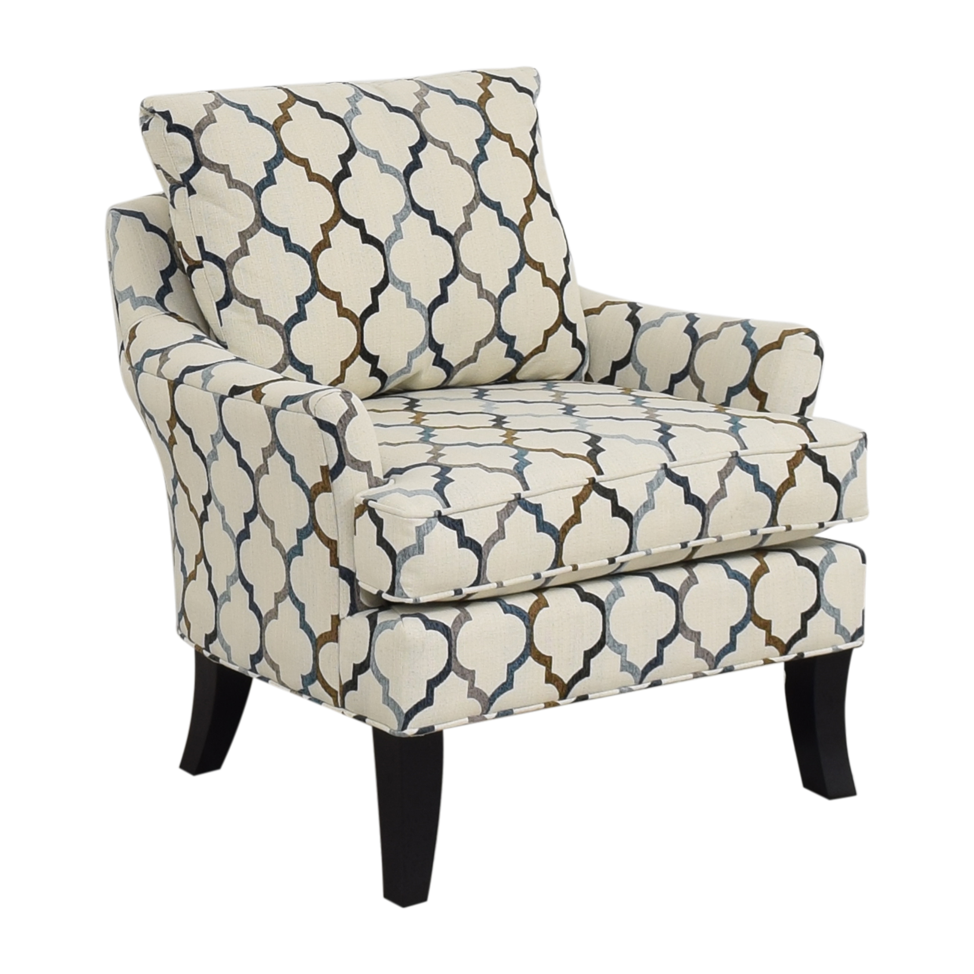 Raymour & Flanigan Raymour & Flanigan Quatrefoil Accent Chair on sale