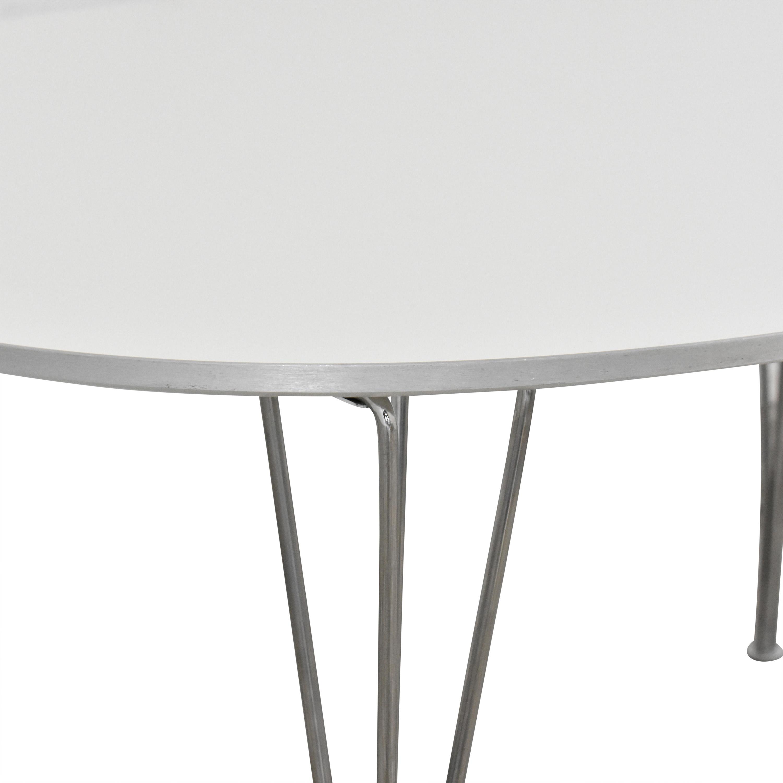 Fritz Hansen Fritz Hansen Super-Elliptical Table by Piet Hein used
