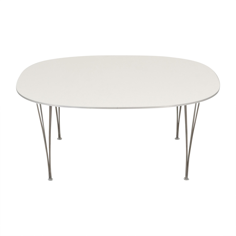 Fritz Hansen Super-Elliptical Table by Piet Hein Fritz Hansen