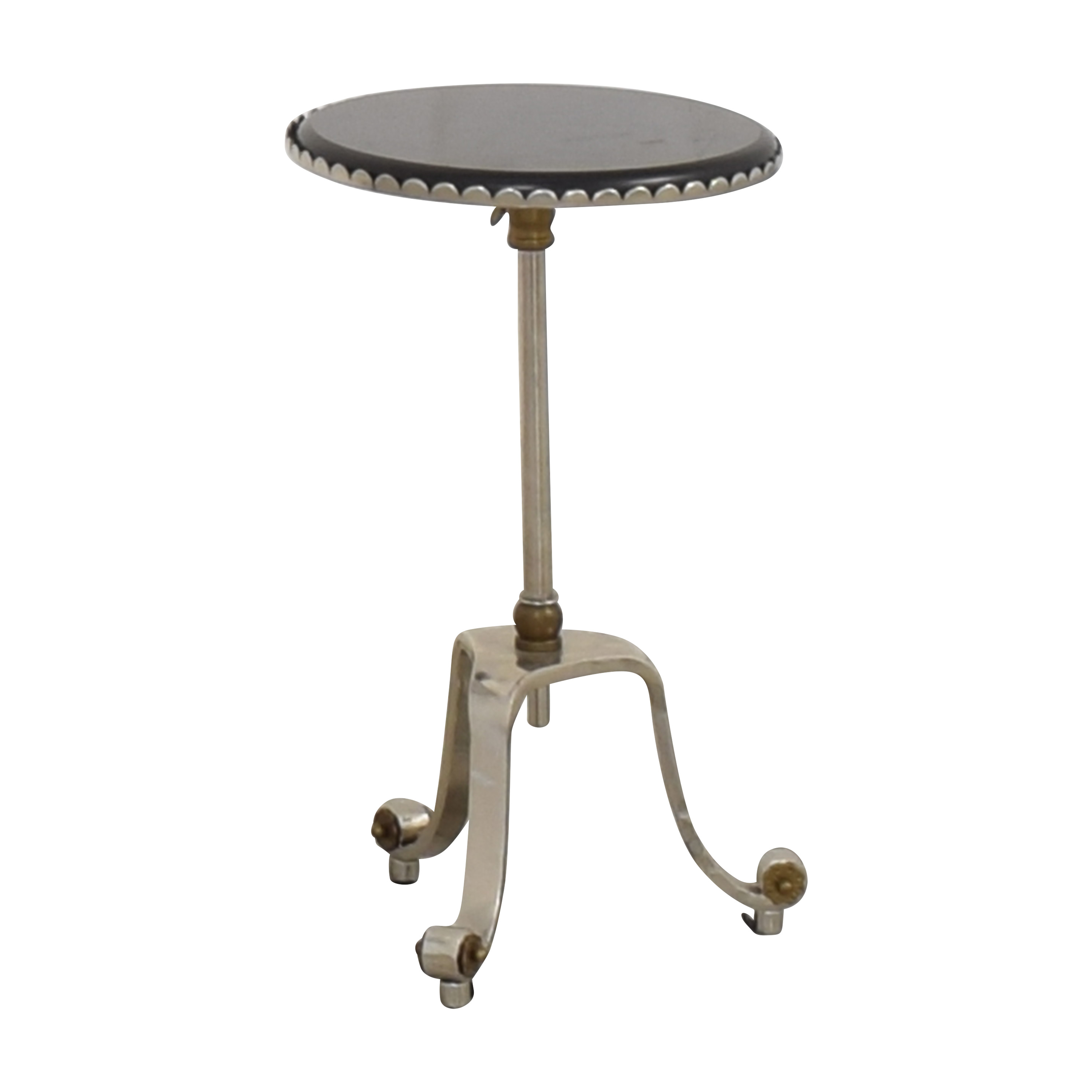 Adjustable Round Top Accent Table