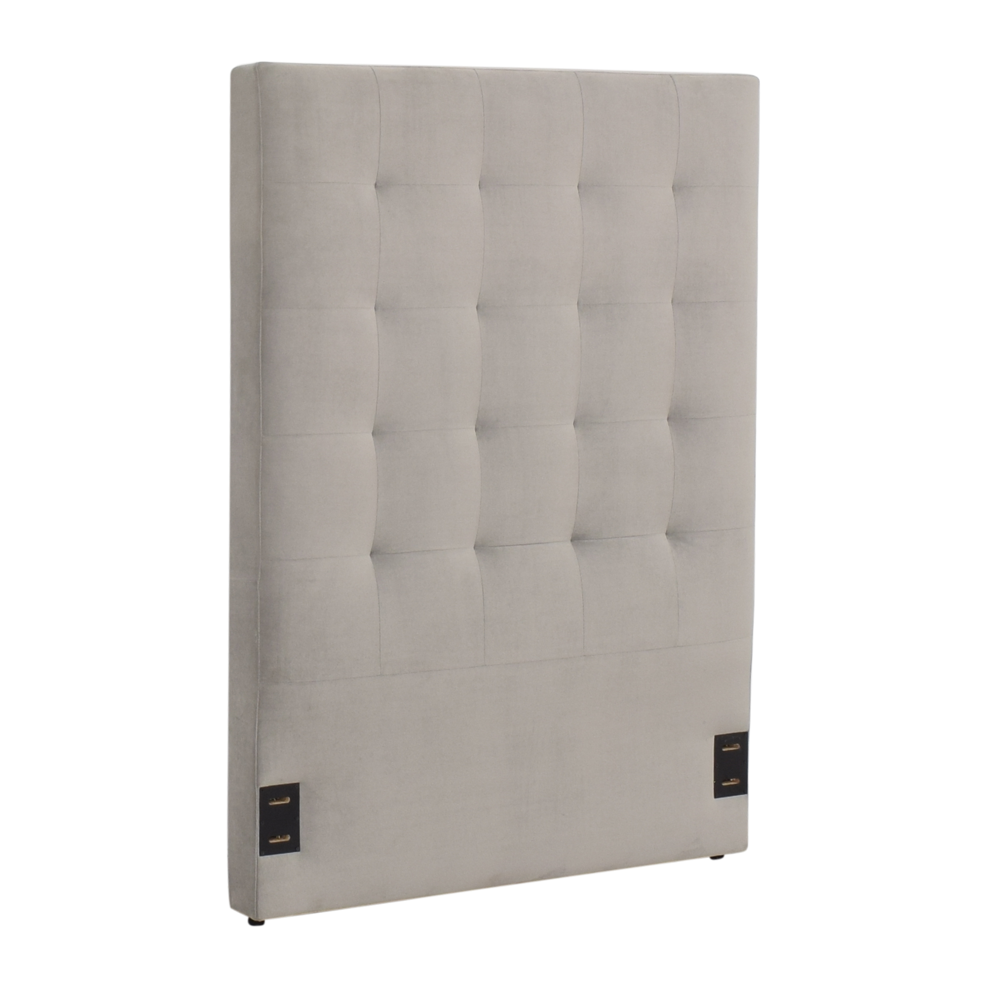 shop West Elm Tall Grid Tufted Twin Headboard West Elm