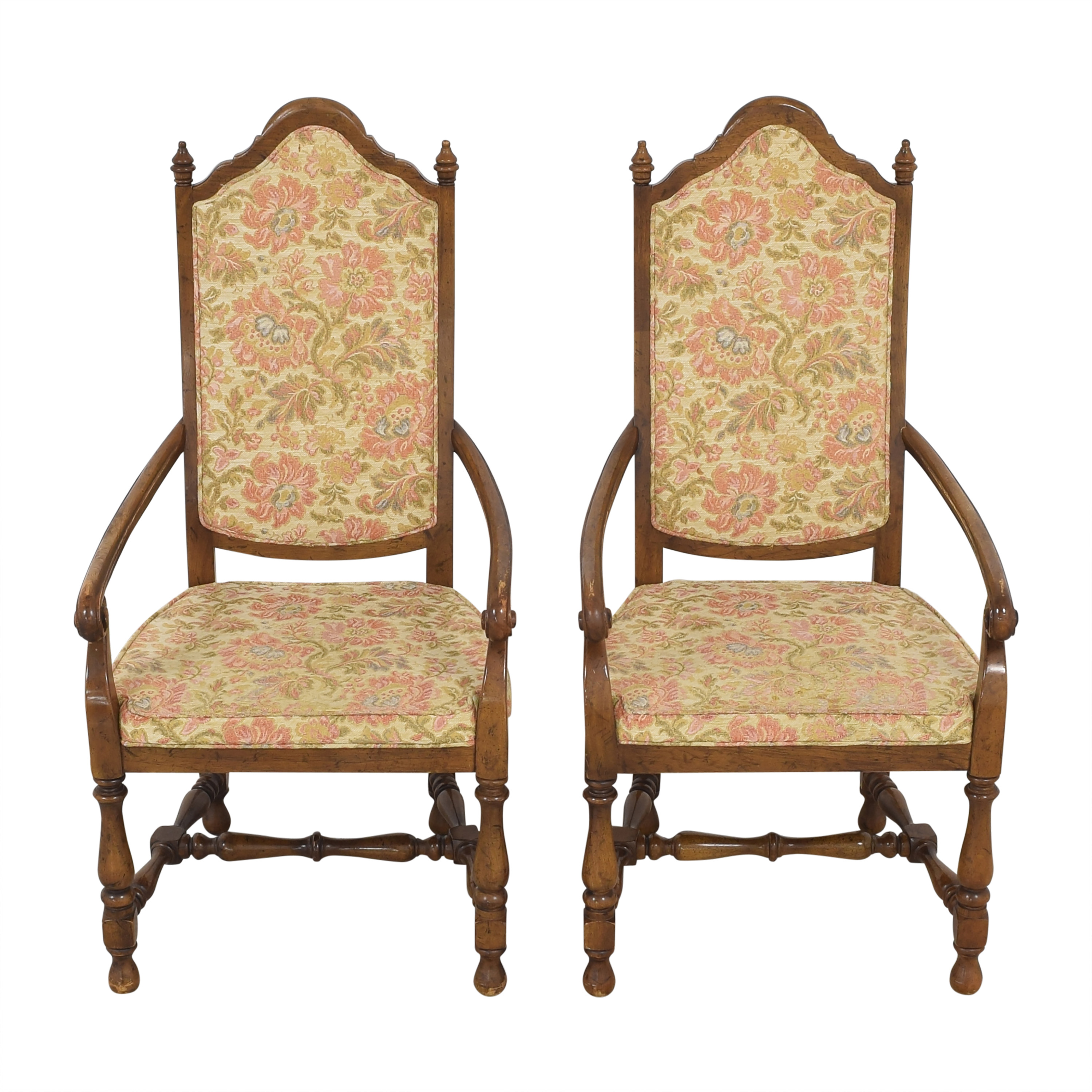 Heritage Heritage High Back Dining Armchairs pa