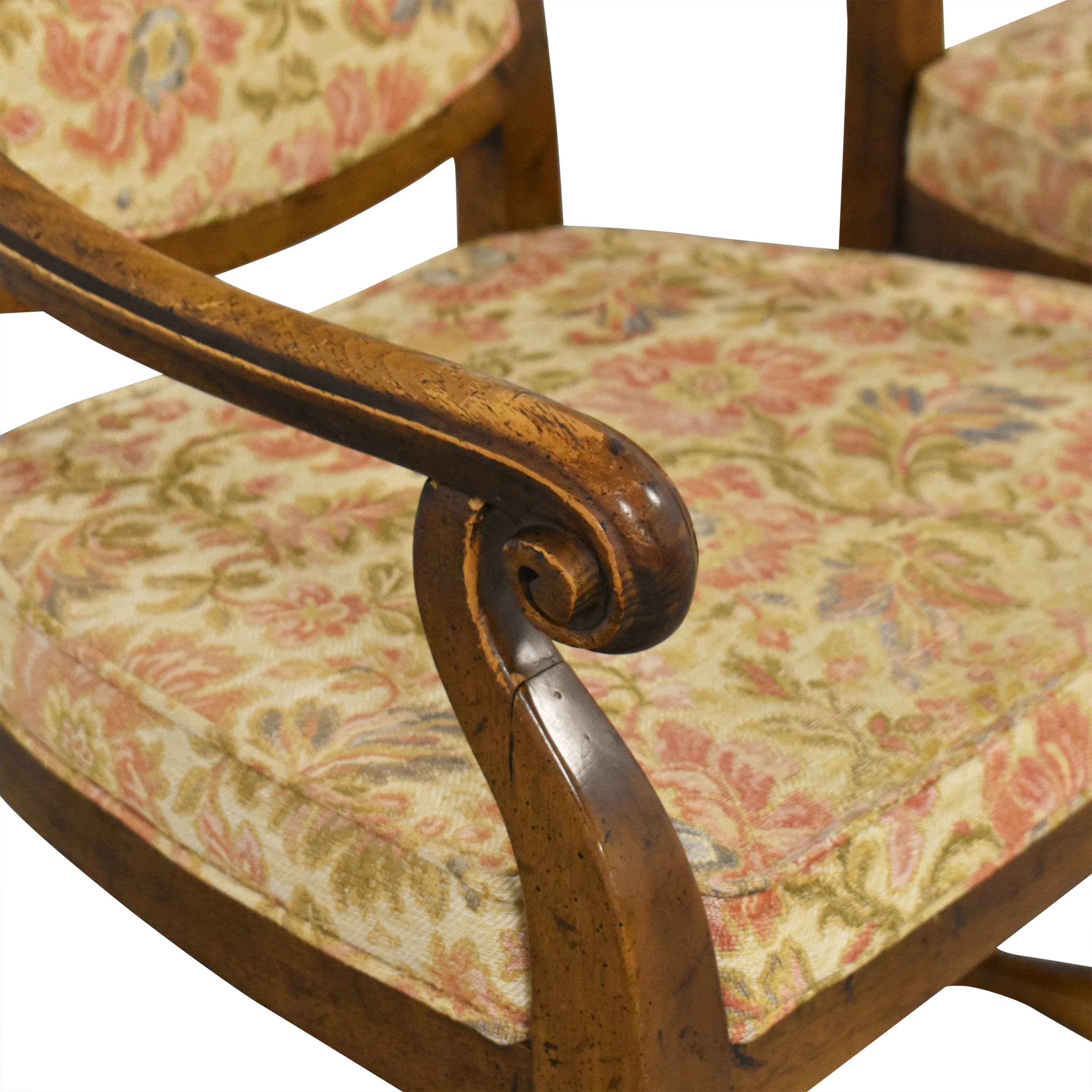 Heritage Heritage High Back Dining Armchairs nyc