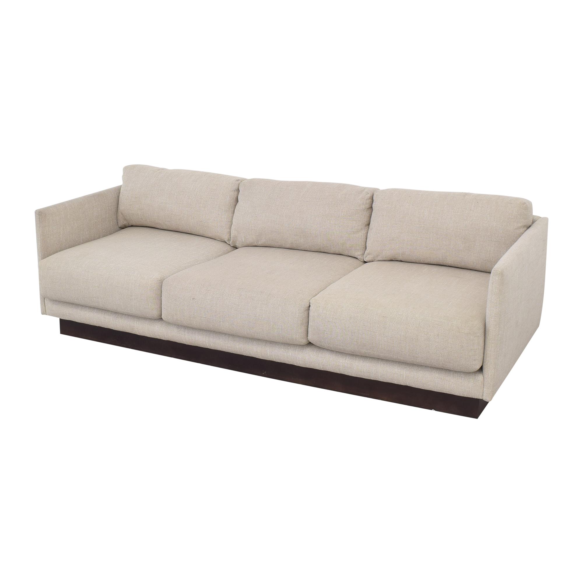 Mitchell Gold + Bob Williams Three Cushion Sofa sale