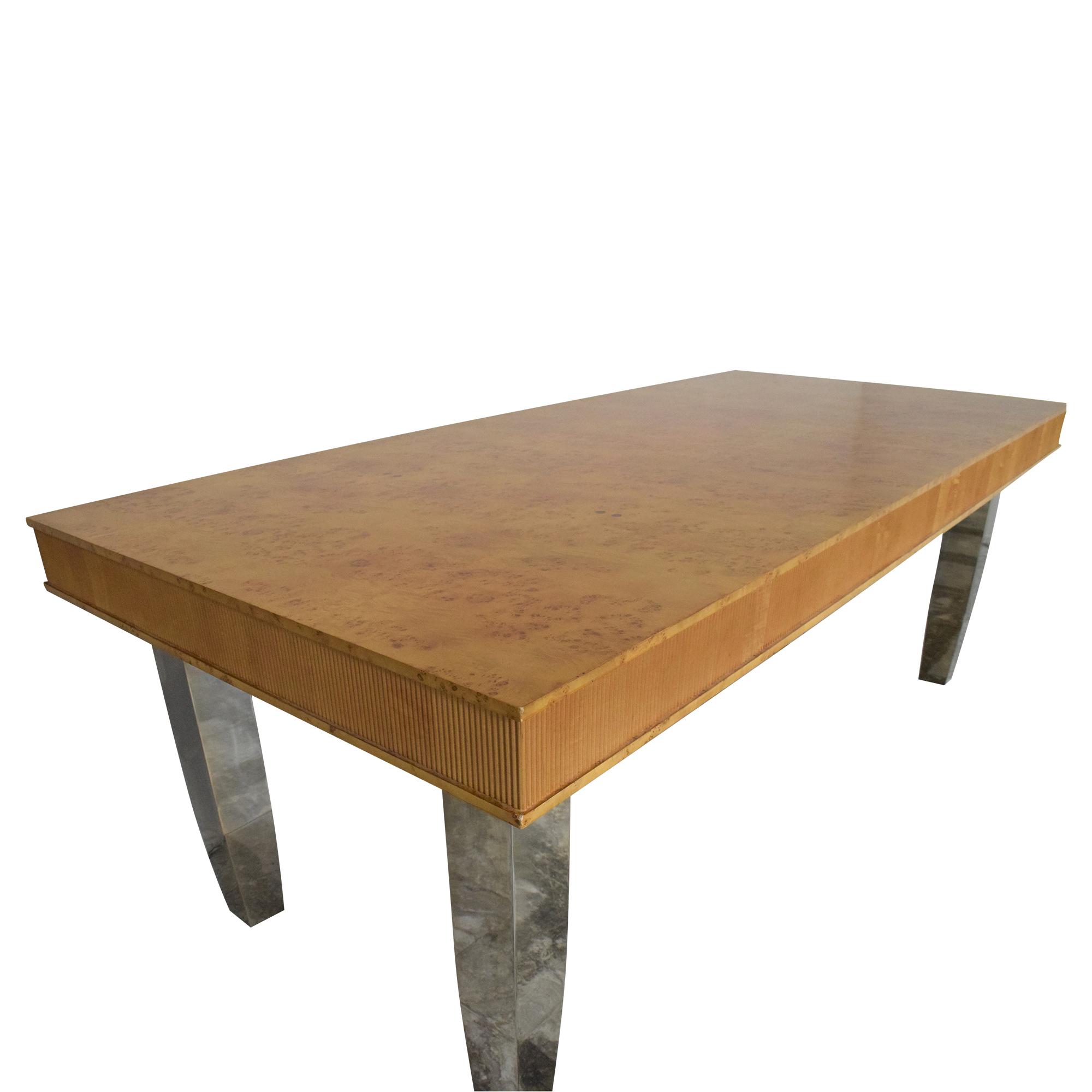 Custom Rectangular Dining Table second hand