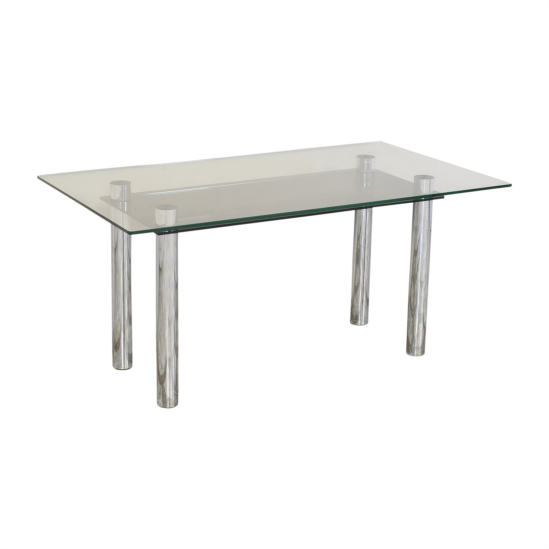 shop Effezeta Dining Table with Transparent Surface Effezeta