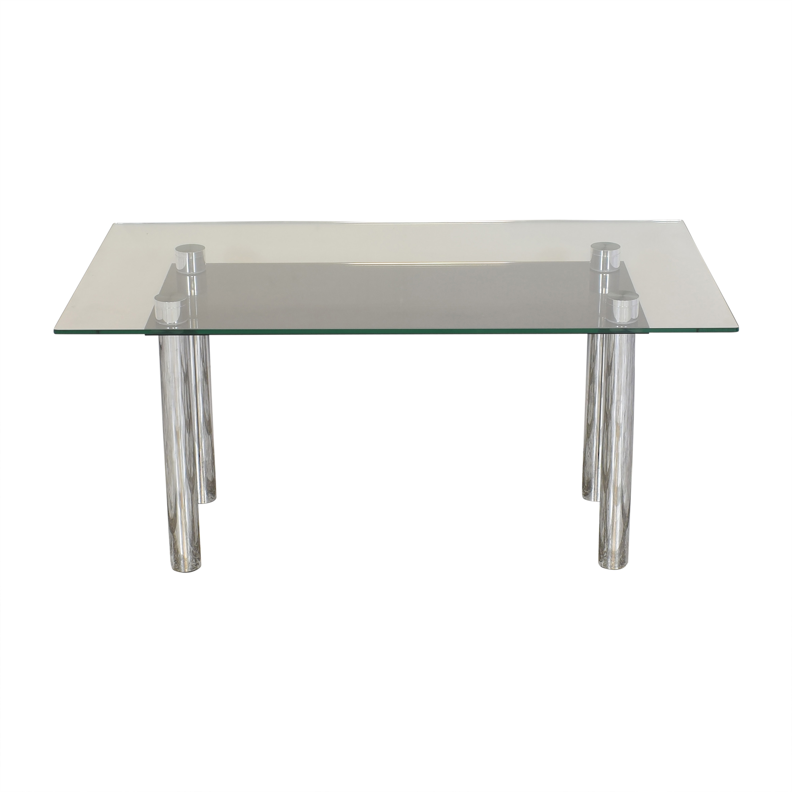 buy Effezeta Dining Table with Transparent Surface Effezeta Dinner Tables