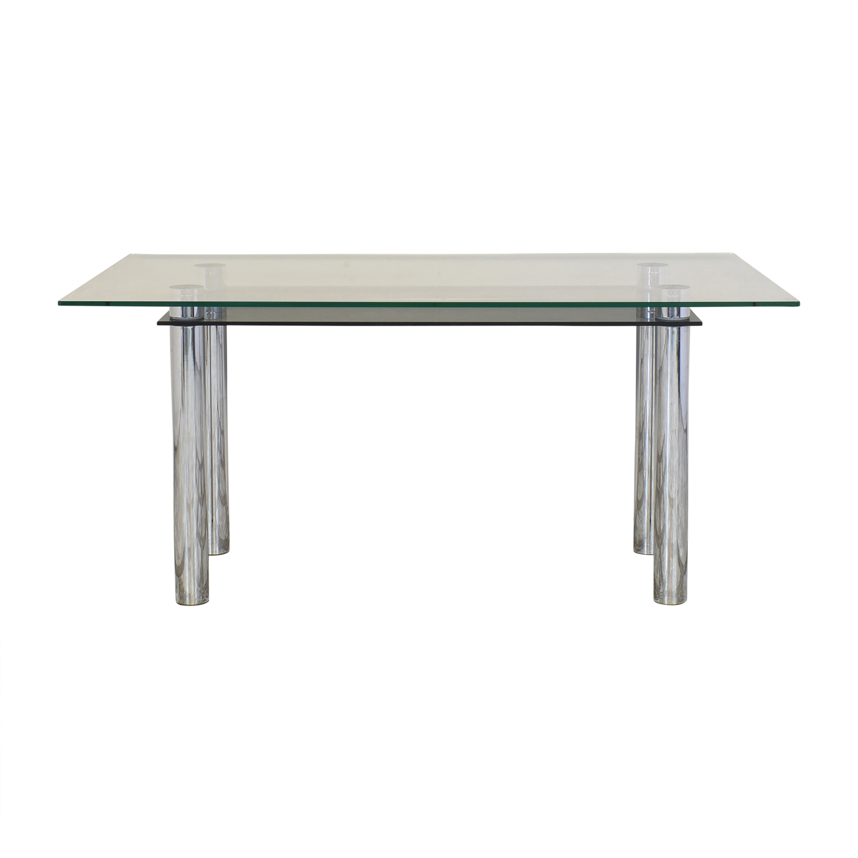Effezeta Effezeta Dining Table with Transparent Surface ct