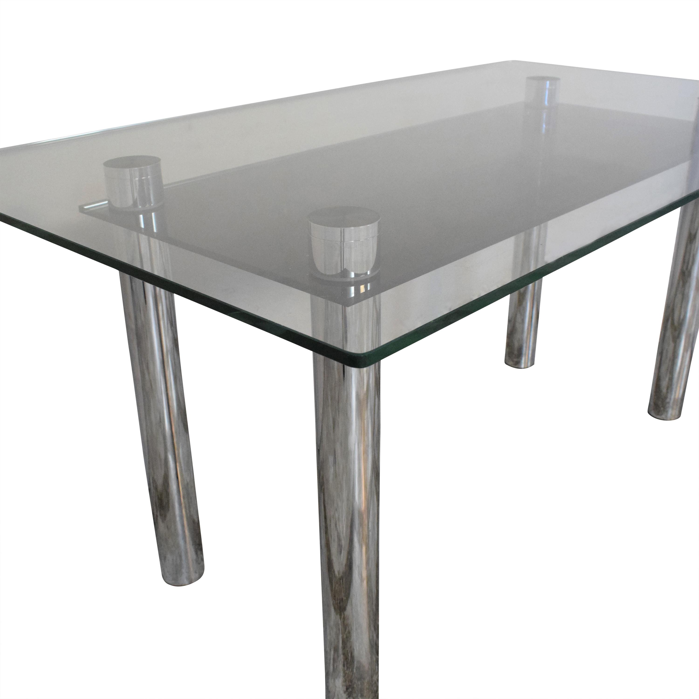 Effezeta Effezeta Dining Table with Transparent Surface price