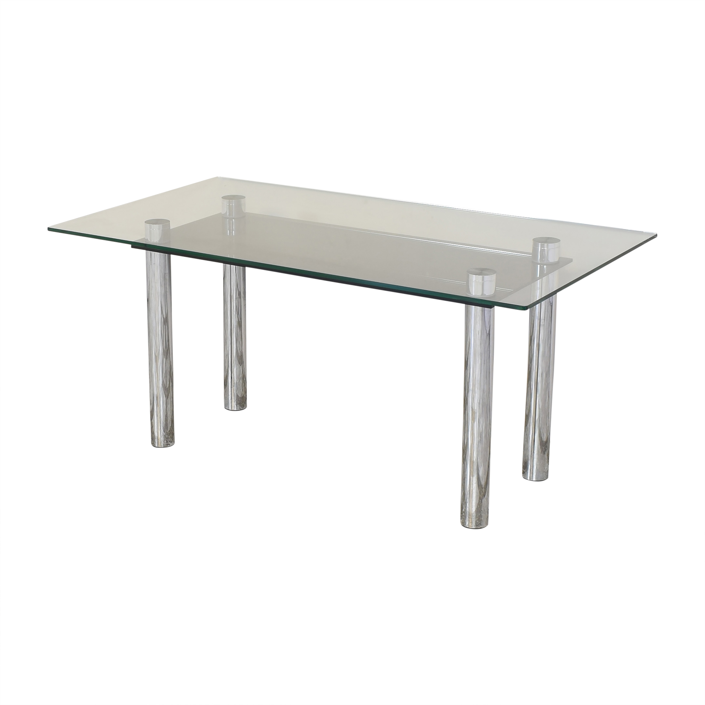 Effezeta Effezeta Dining Table with Transparent Surface ct