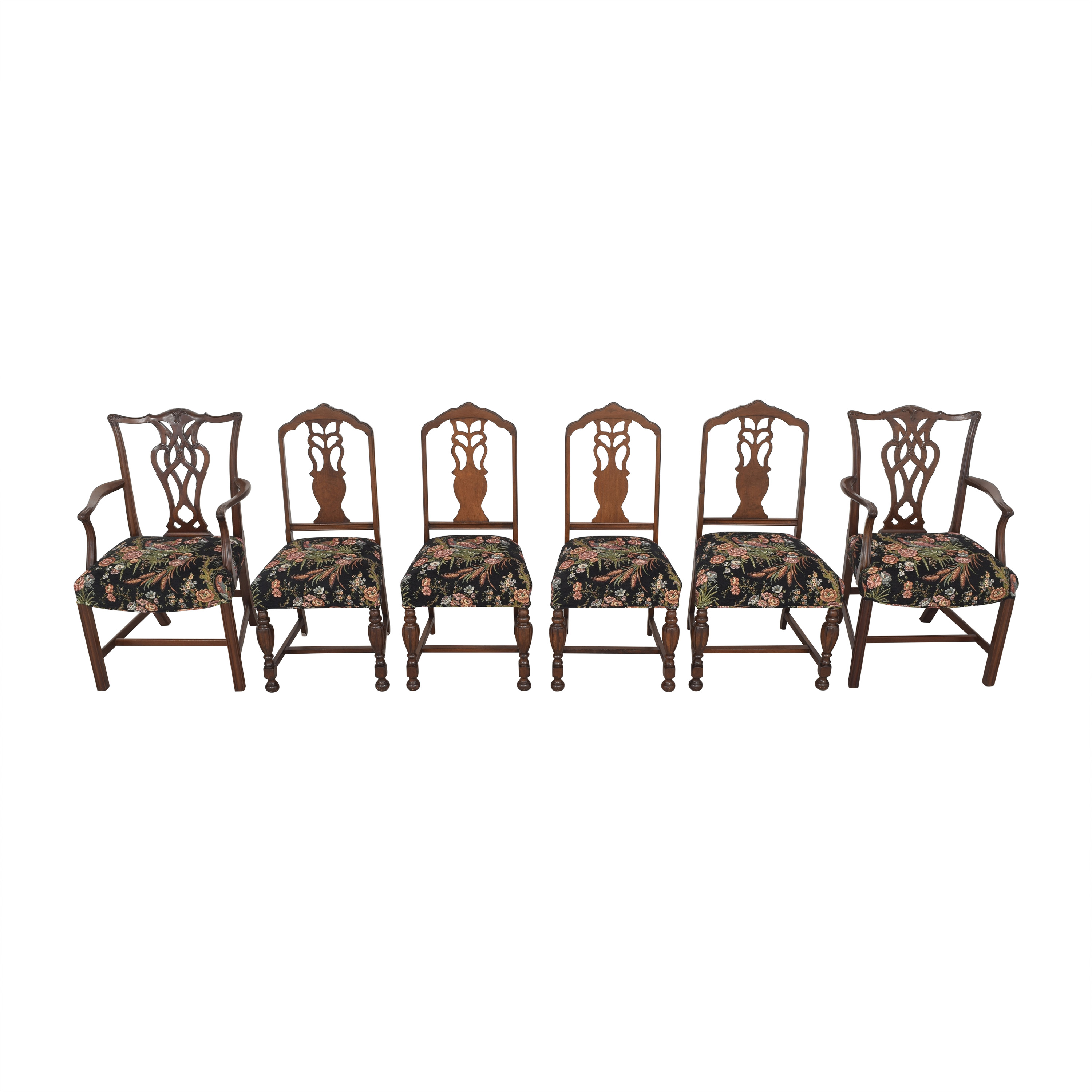 Vintage Upholstered Dining Chairs sale
